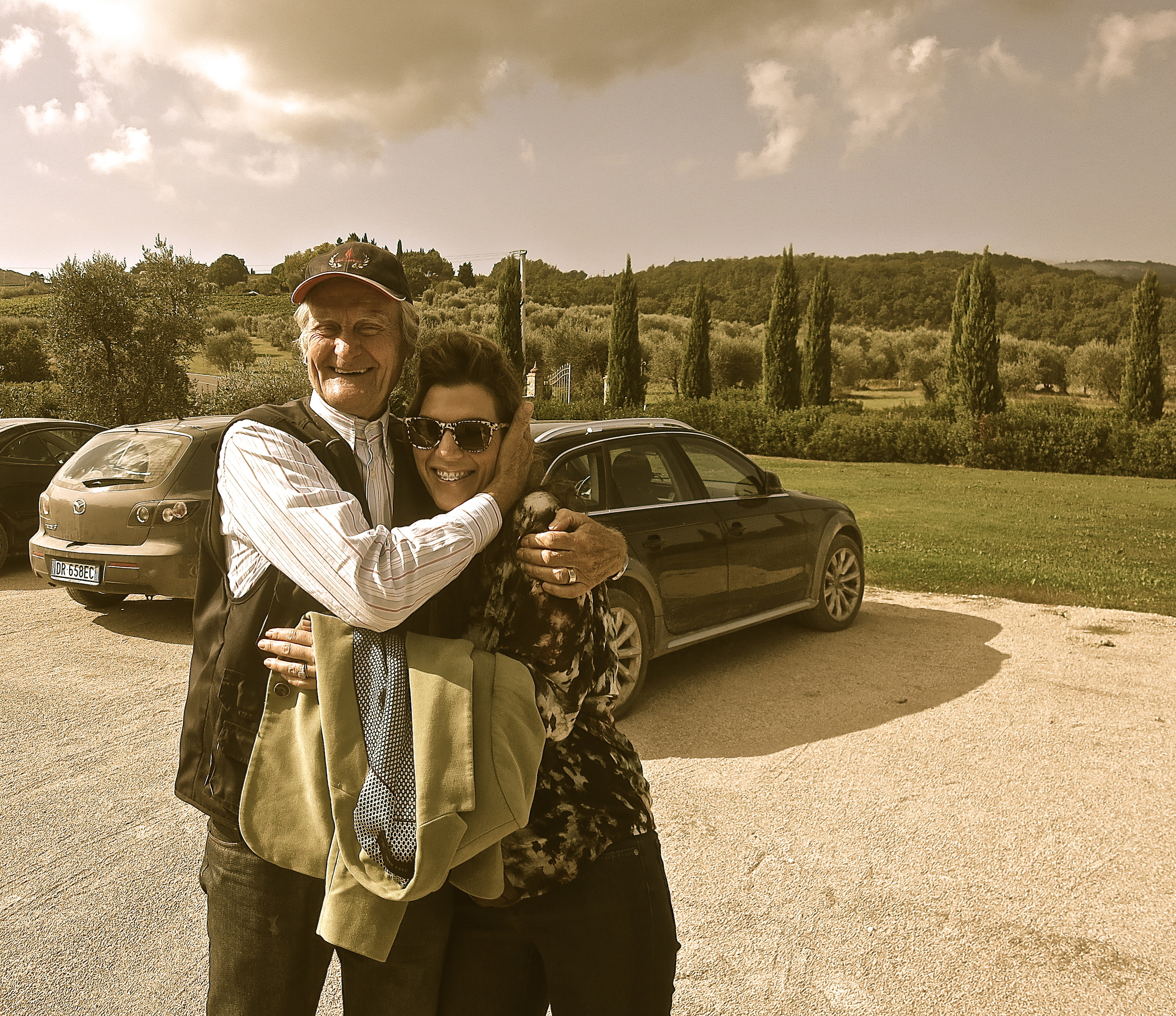 Pino Teresi and Isabel at winery Casanova di Neri