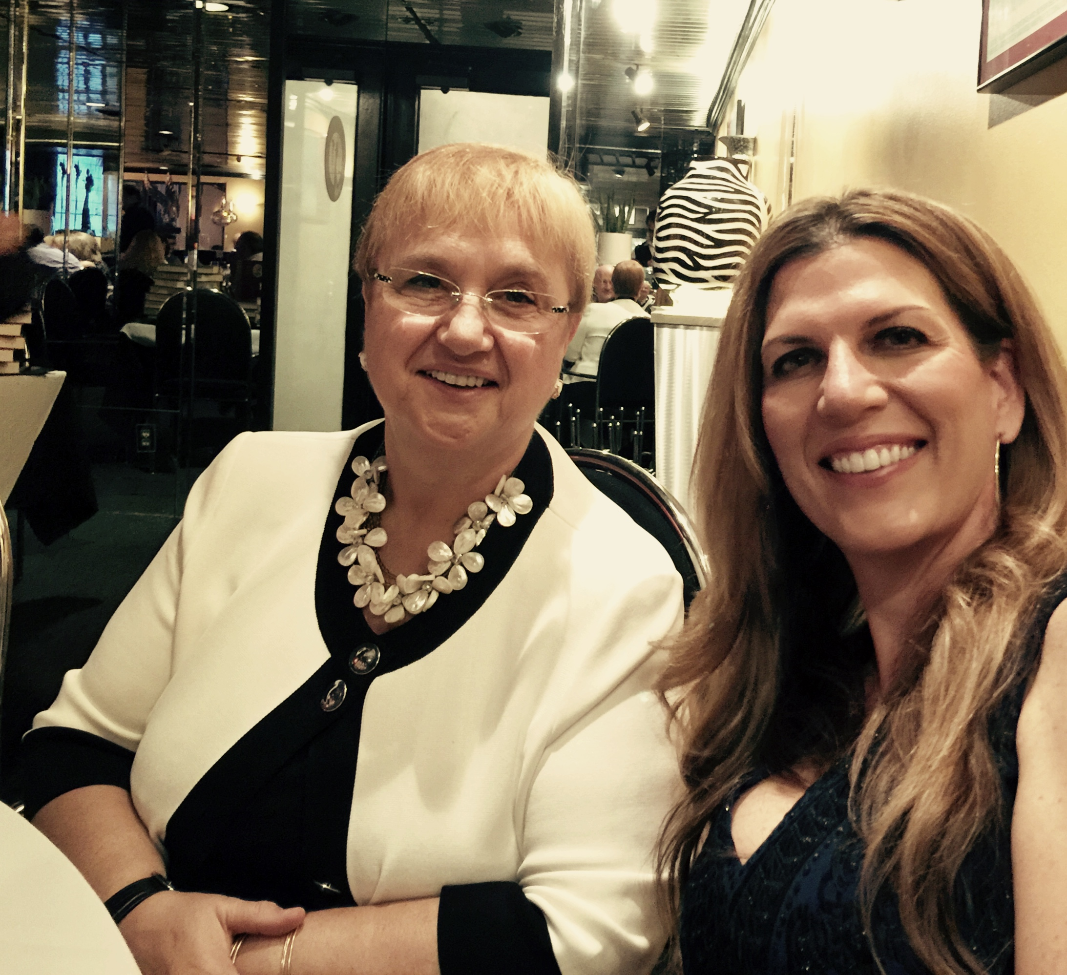 Lidia Bastianich and Isabel at Avanti's