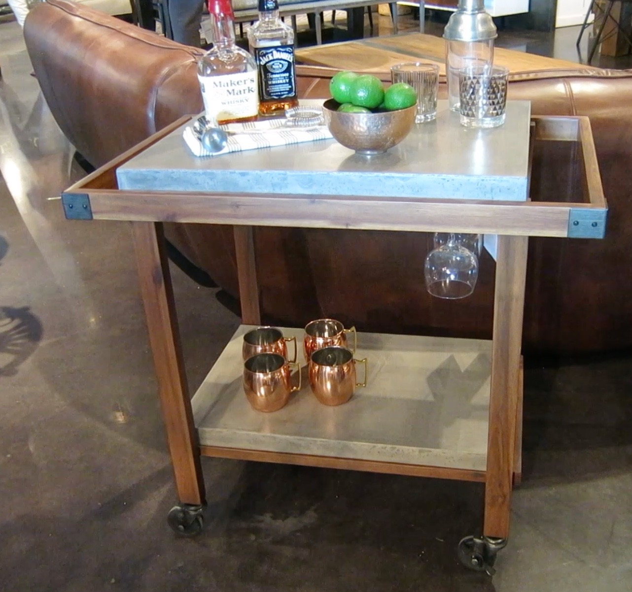 Portable bar at Four Hands