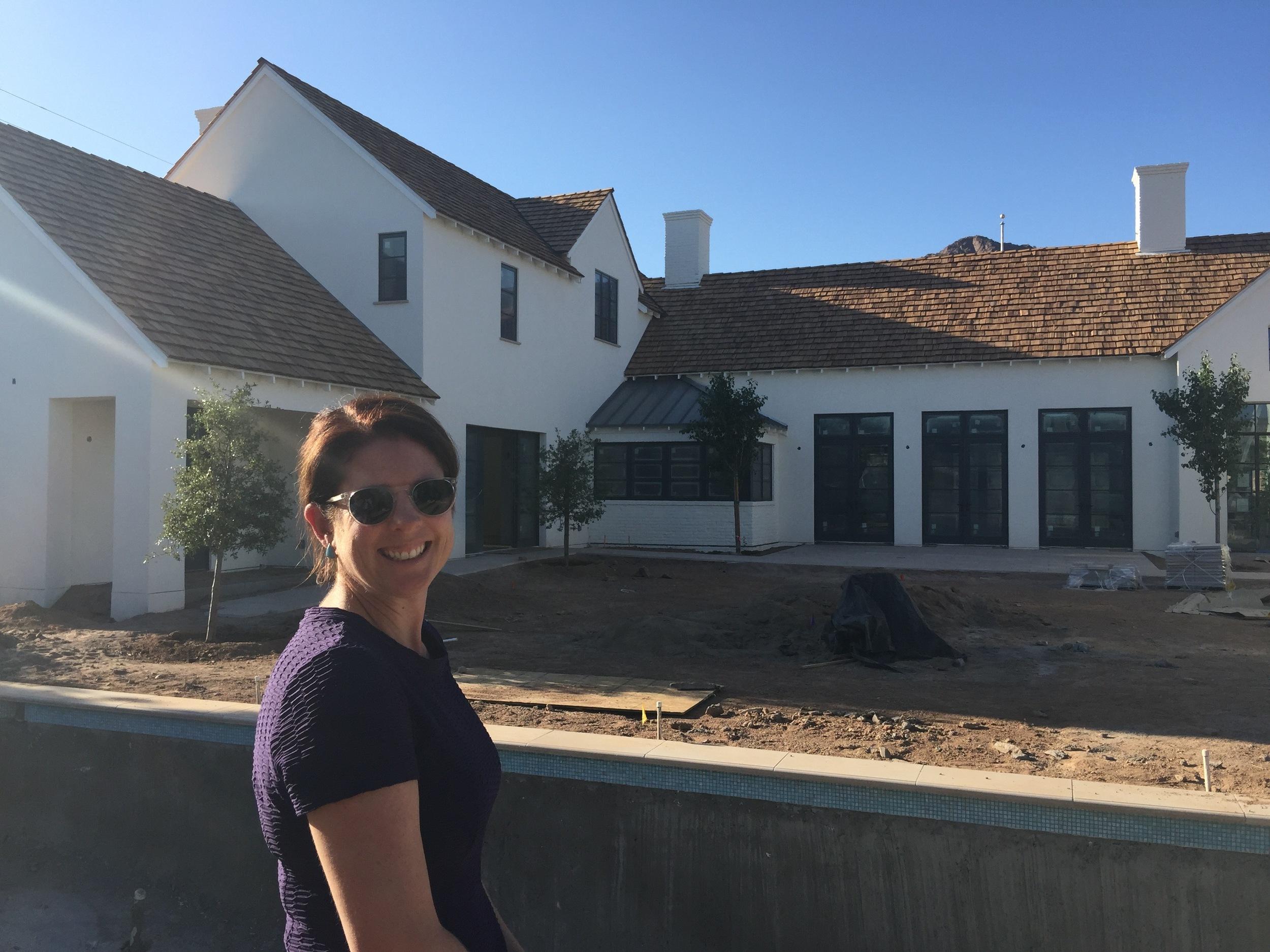 Candelaria Design Architect, Meredith Thomson at her Modern Farmhouse creation in Arcadia.