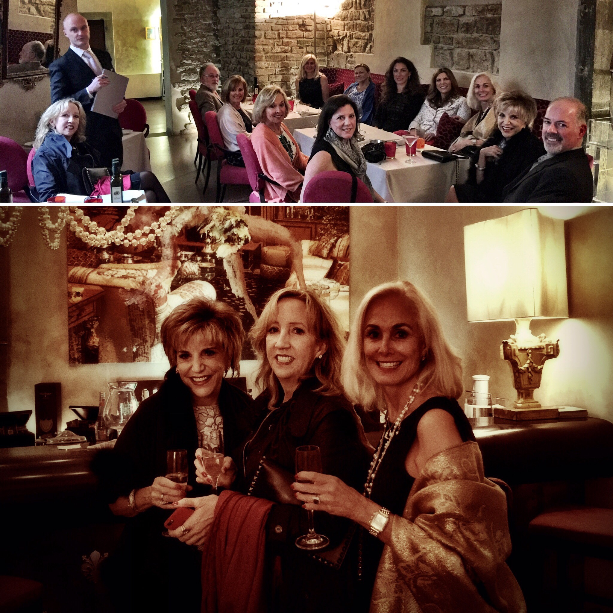 Sandra Wilken, Sandra Miller & Linda Kerley at the Hotel Brunelleschi