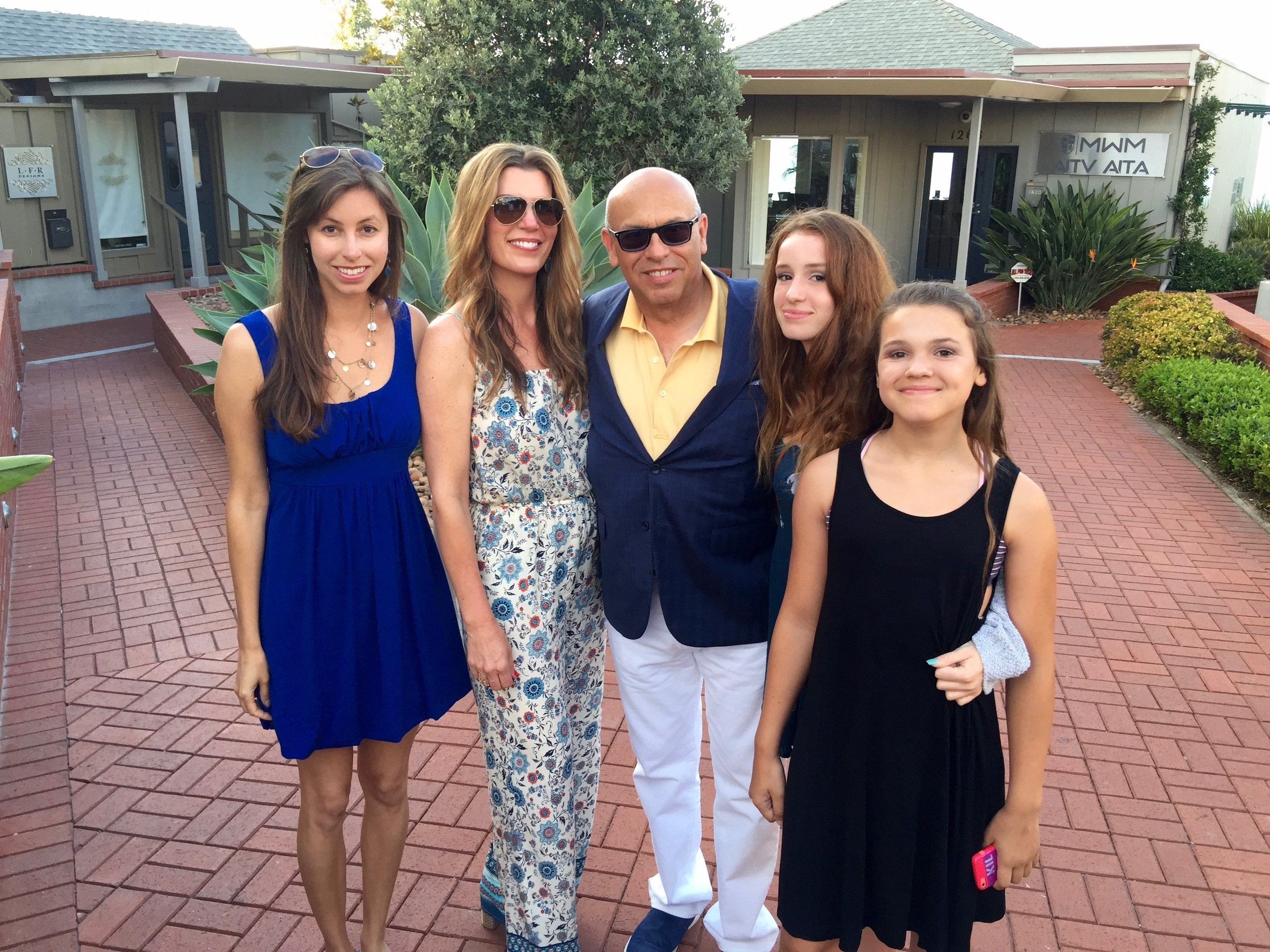 Tiffany, Isabel, MC, Bella and Sophia at Eddie V's.