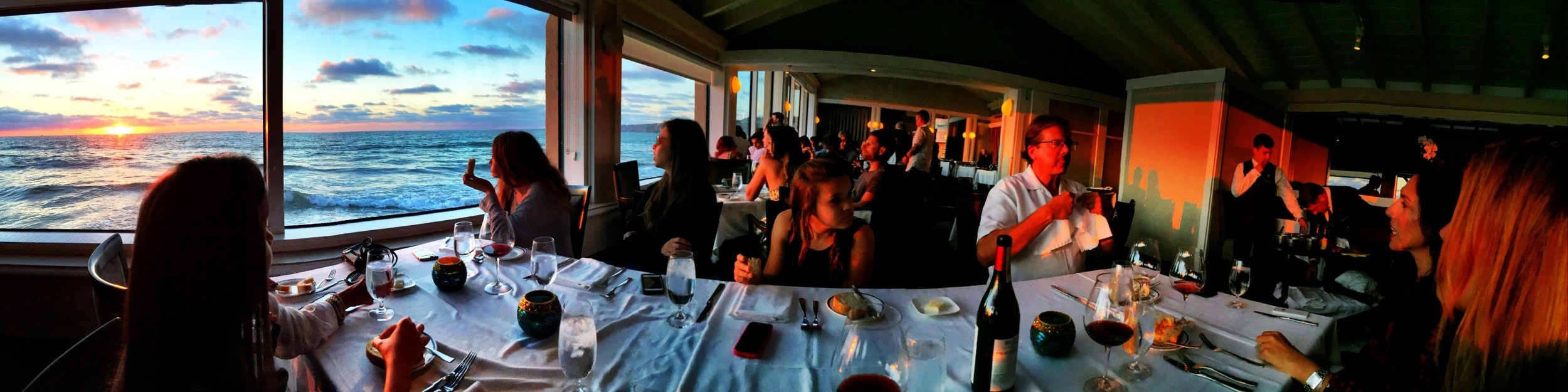 Dinner at the Marine Room in LaJolla