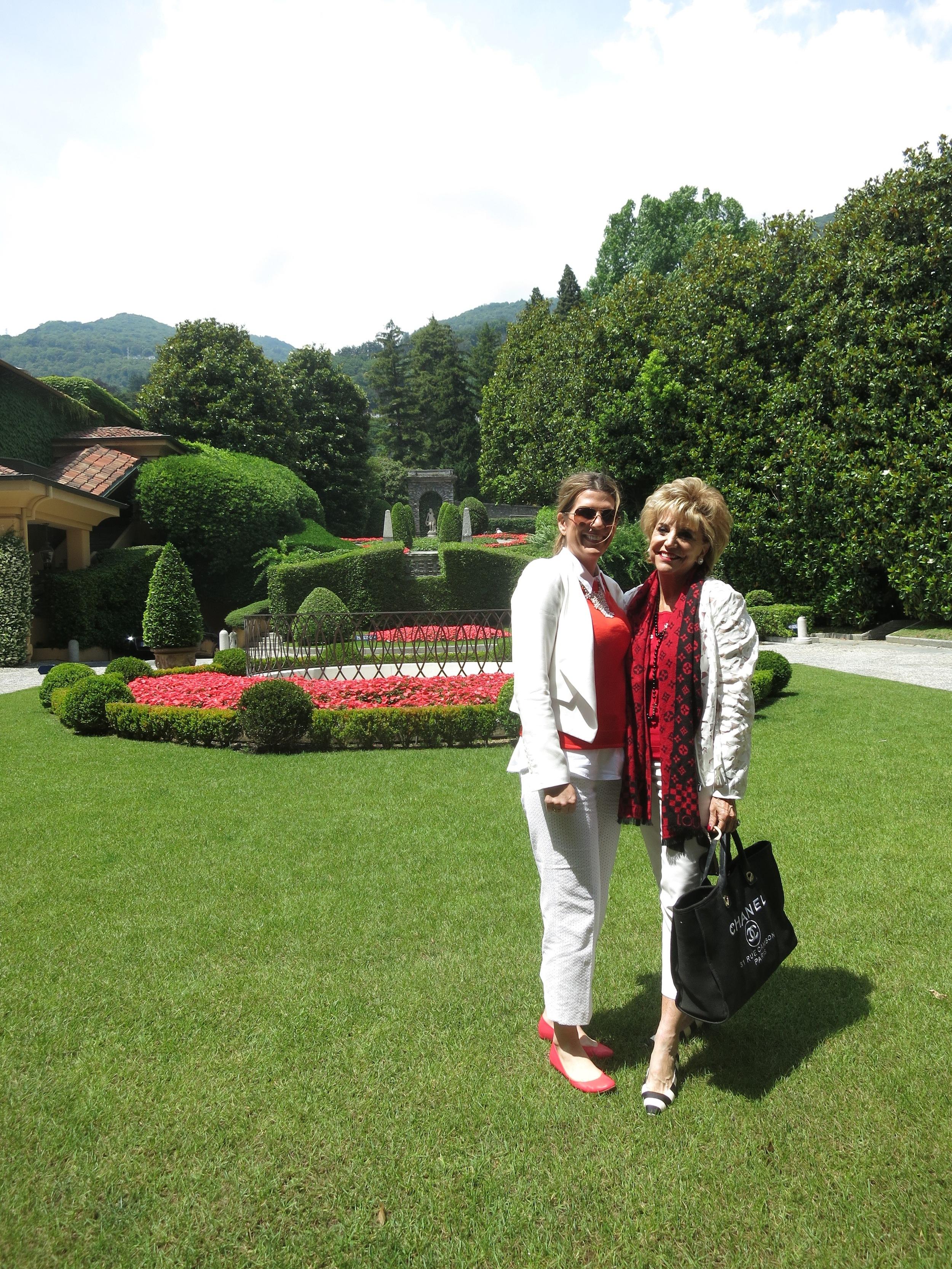 Isabel and Sandra Wilken at the Villa d'Este Gardens