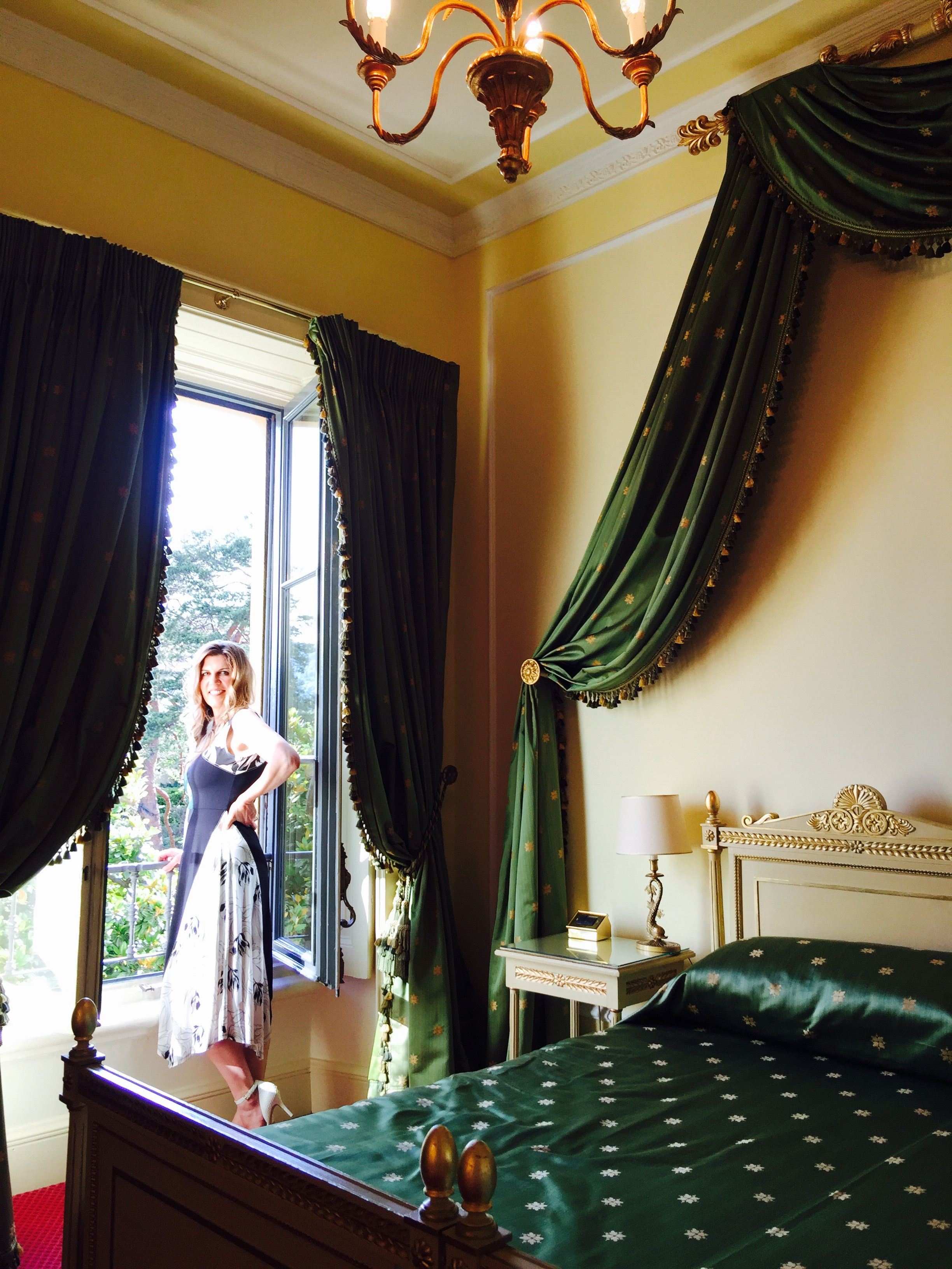 The beautiful rooms at the Villa d'Este