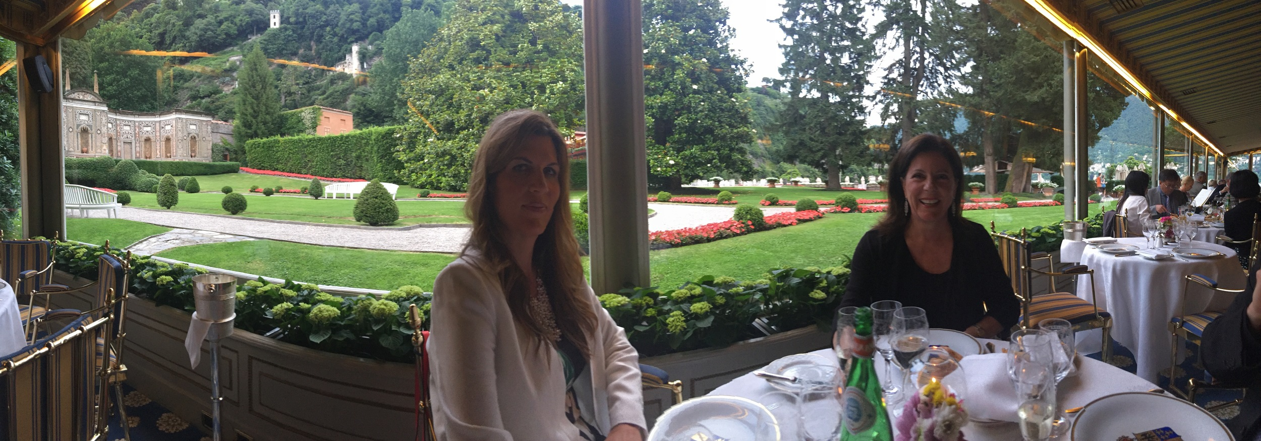 Dinner at the Villa d'Este