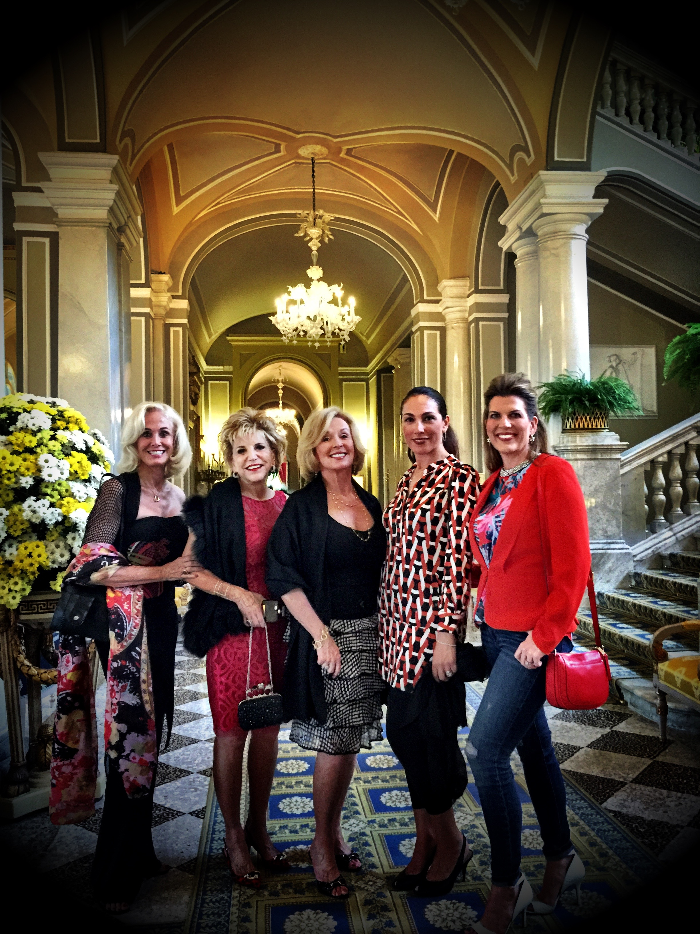 The ladies at Villa d'Este