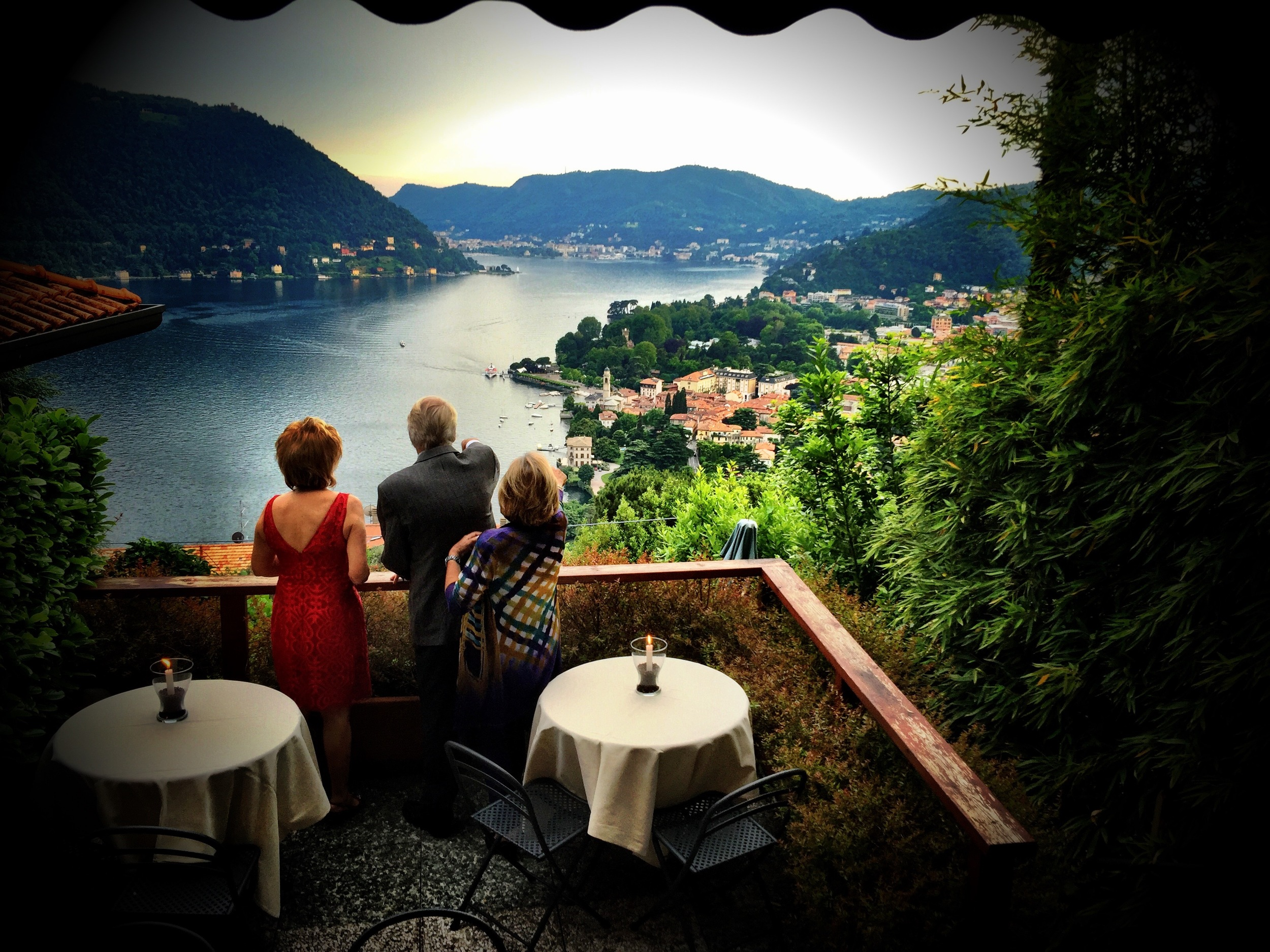 Fantastic view from the Il Gatto Nero