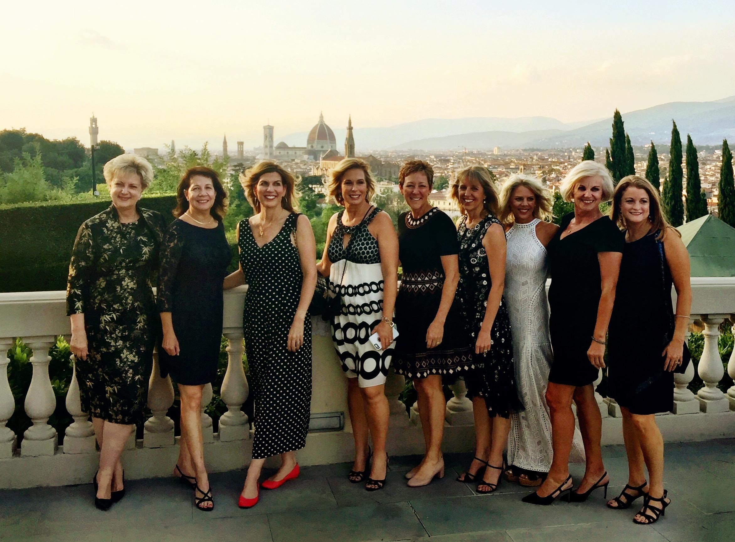 The ladies of the Candelaria Design Tour Italy at the Villa la Vedetta