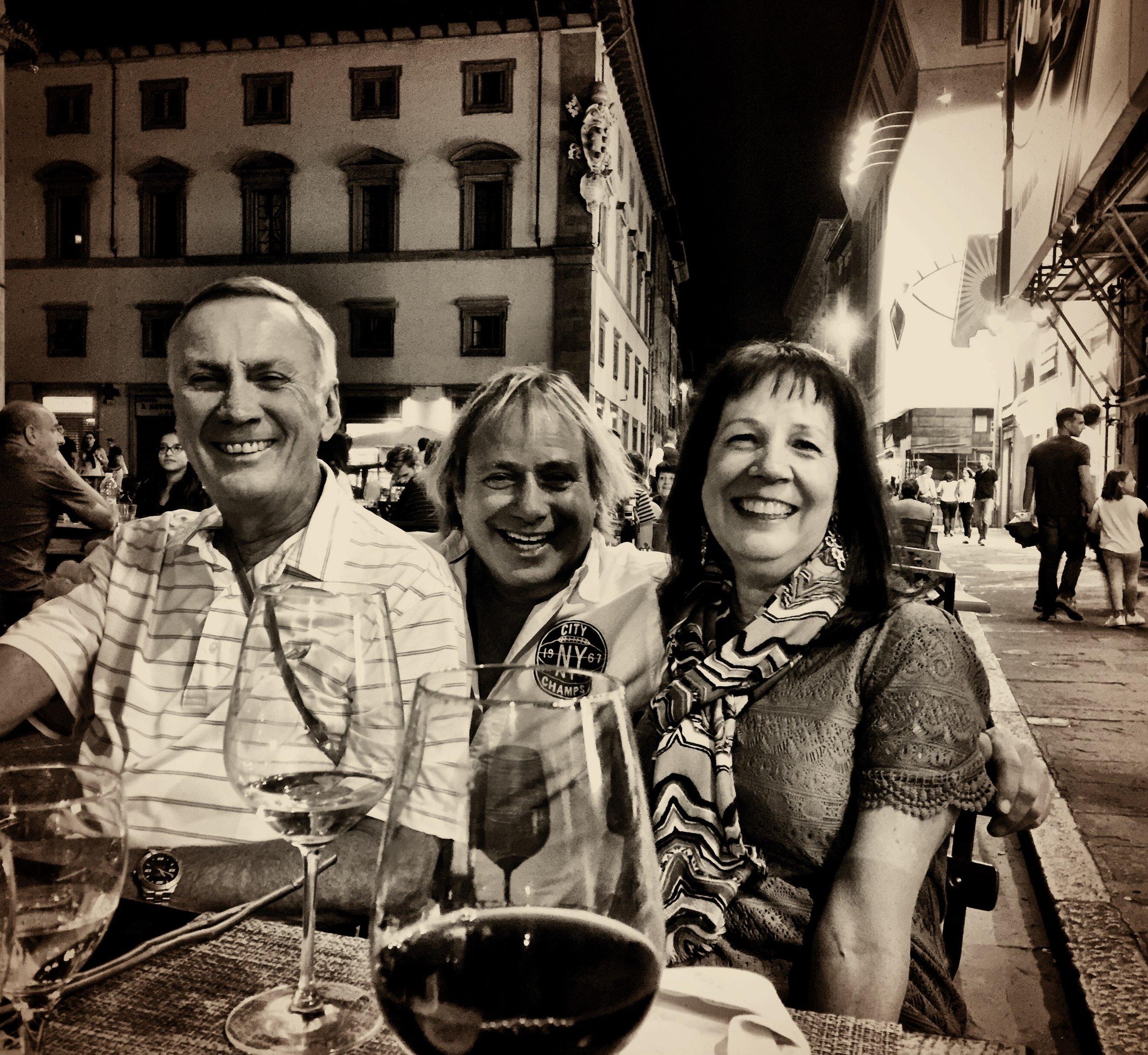Phil Giltner, Walter Spitz and Renee Giltner in Firenze