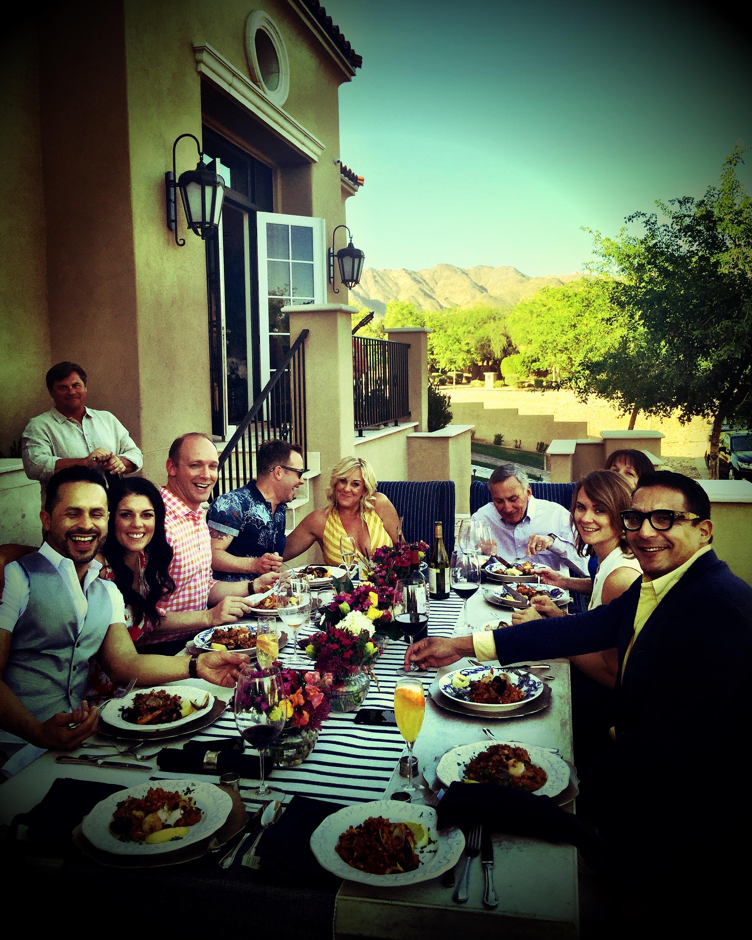 Housewarming party - enjoying my Paella!
