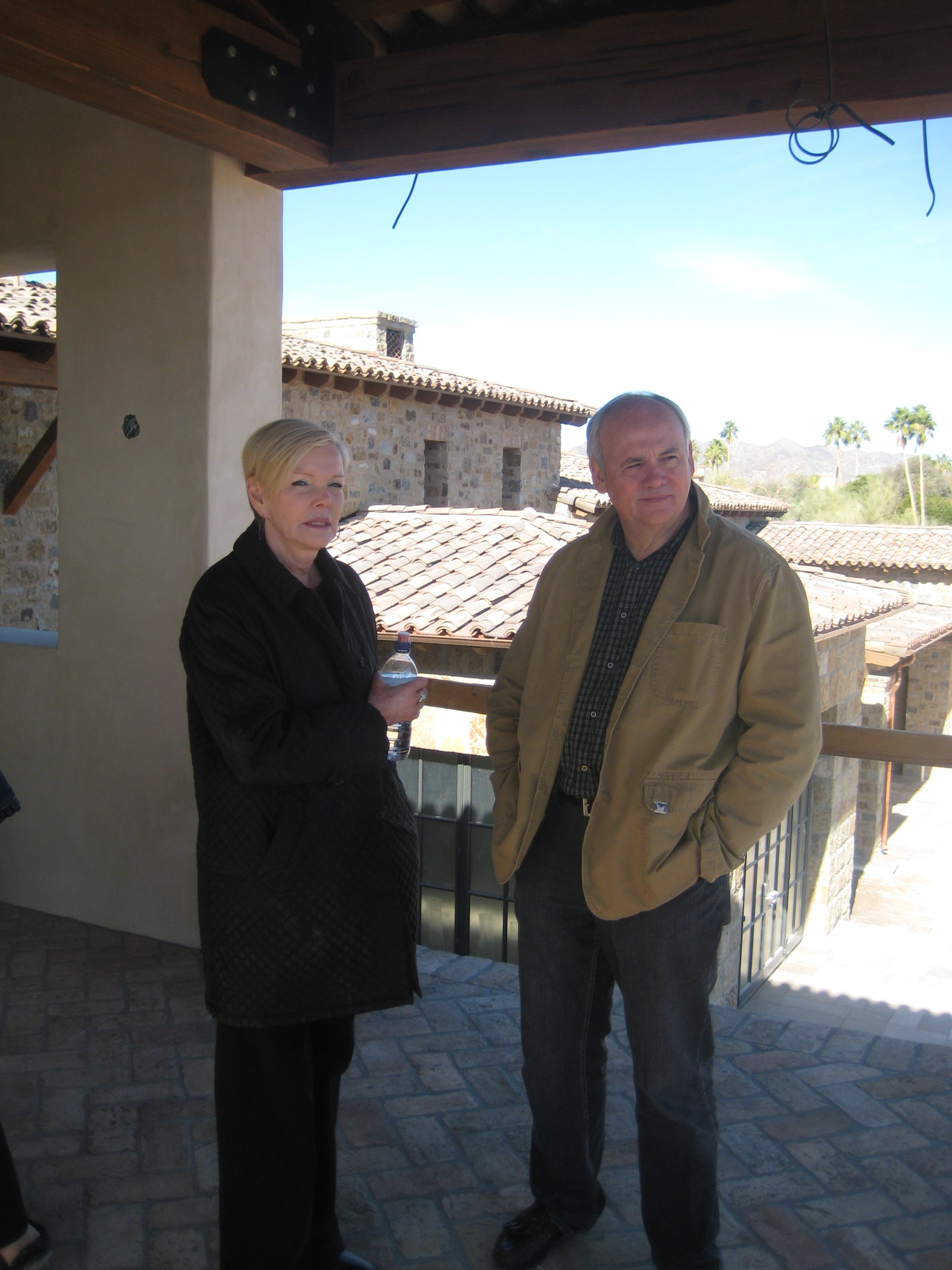 Interior Designer Donna Vallone and our team quarterback Jim Smith