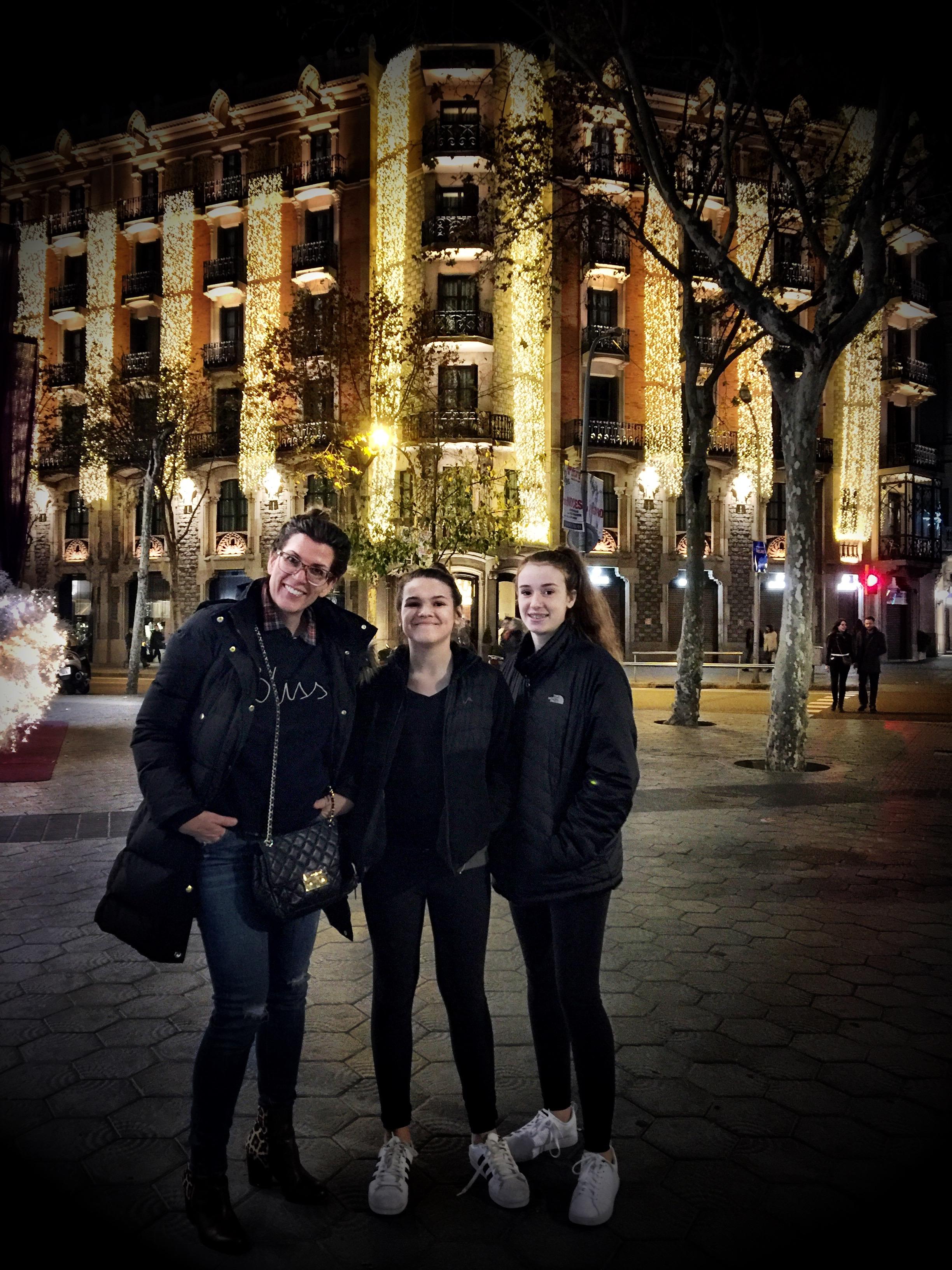 My family in Barcelona