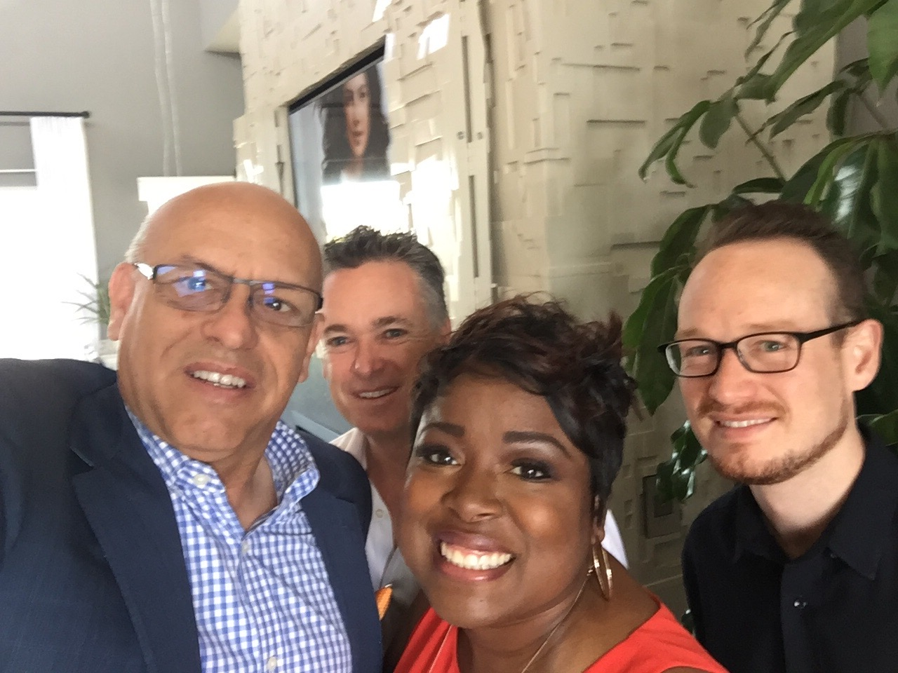 MC with builder, Jim Audiss, designer, Tiffany Brooks and Project Manager, Damon Wake
