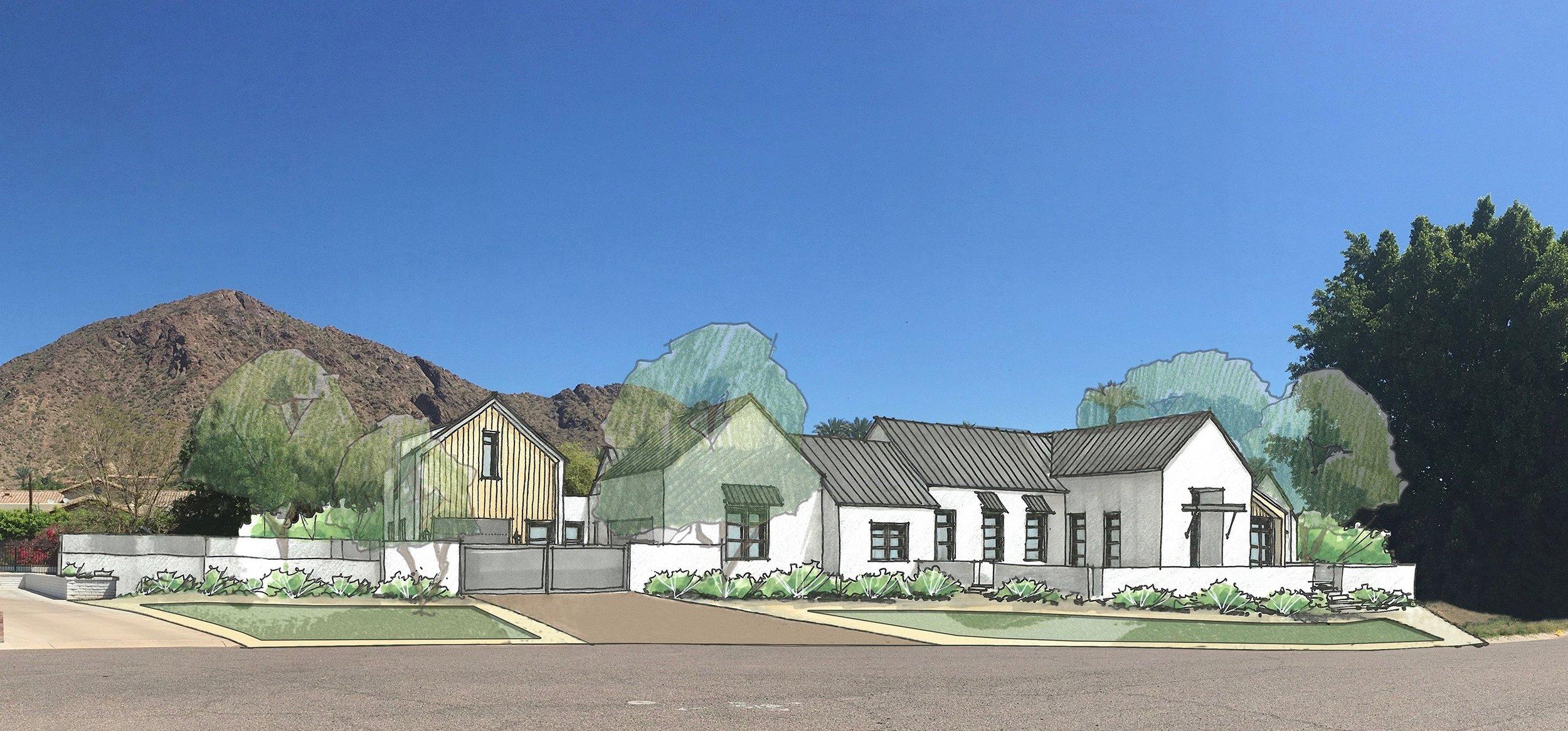 Conceptual Study for a Candelaria Design Modern Farmhouse home in Arcadia