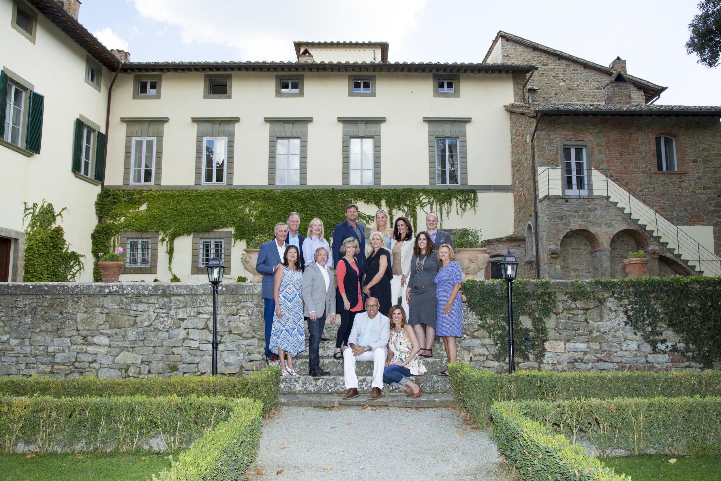 Our 2015 Candelaria Design Tour Italy at the Villa Piazzano