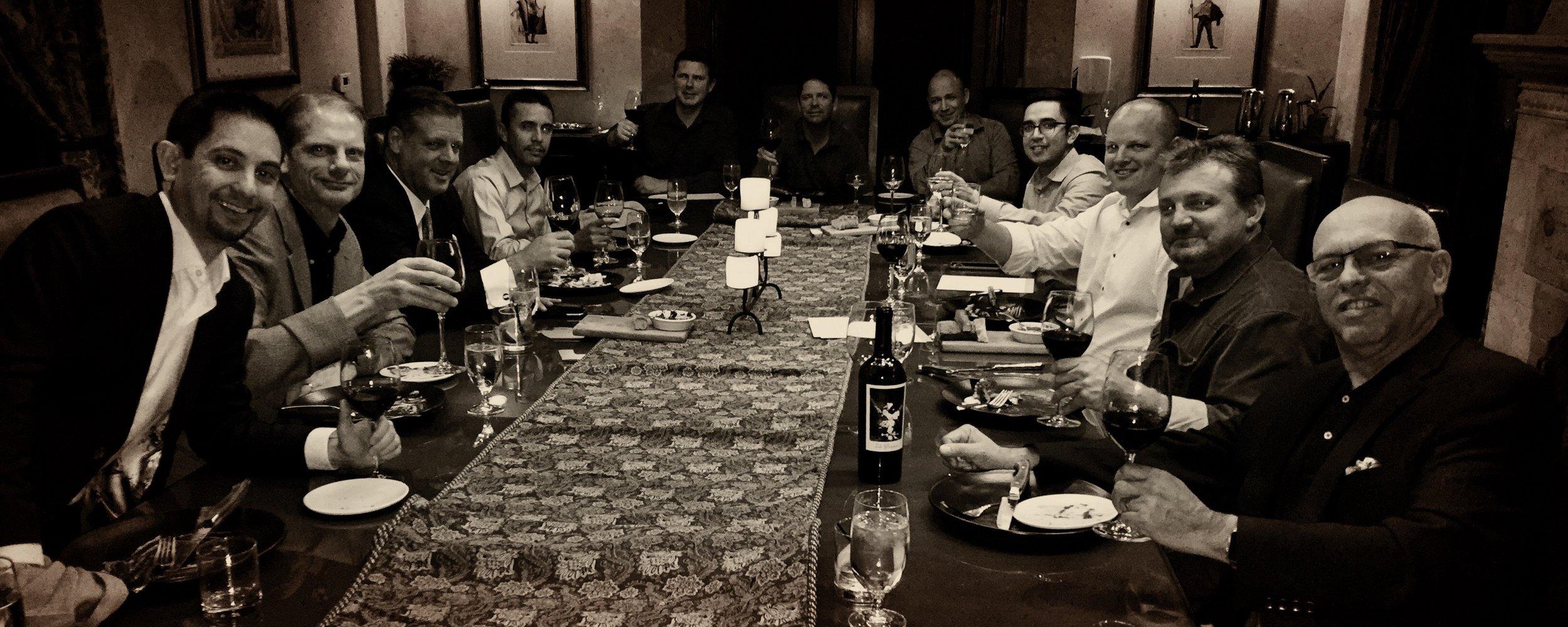 Tim's Bachelor dinner at The Royal Palms Hotel