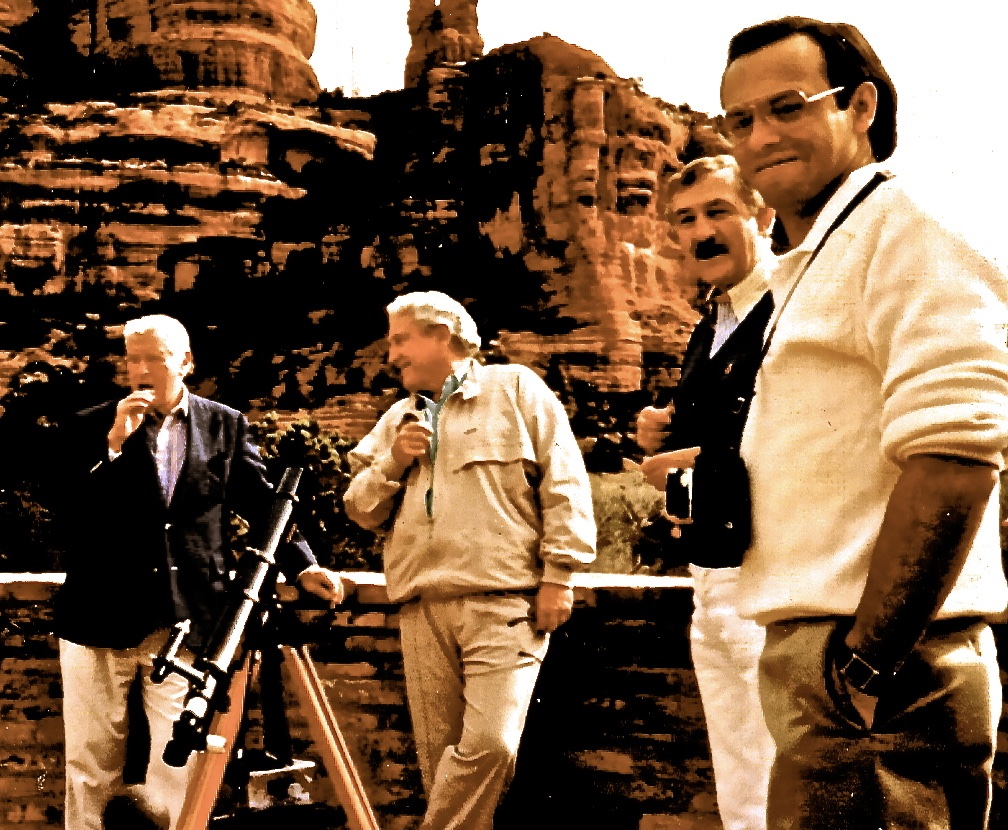 The late John Gardiner, Merv Griffin, George Christensen and Mark Candelaria