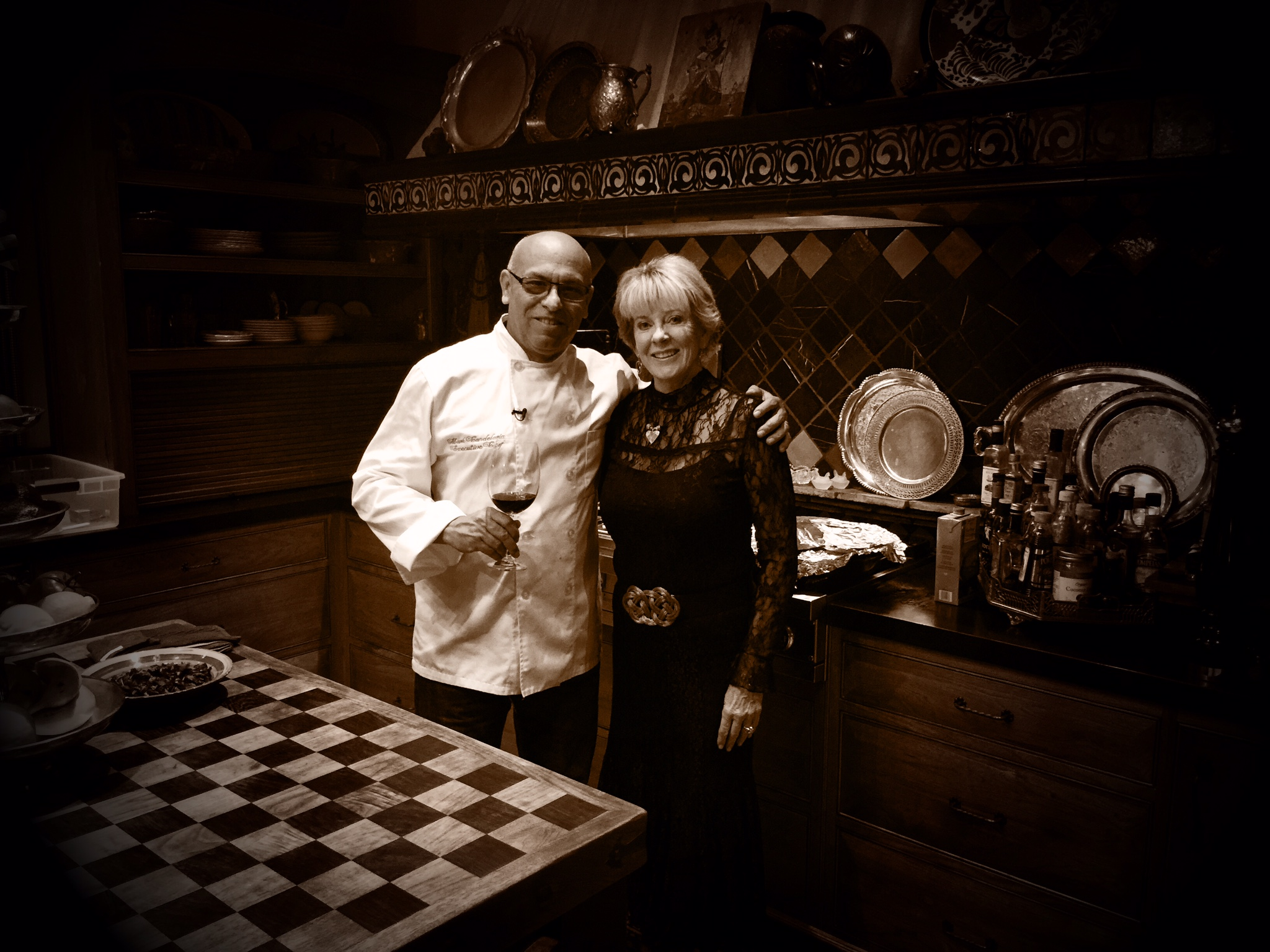 MC and client/friend Sue Ross in her fabulous Kitchen