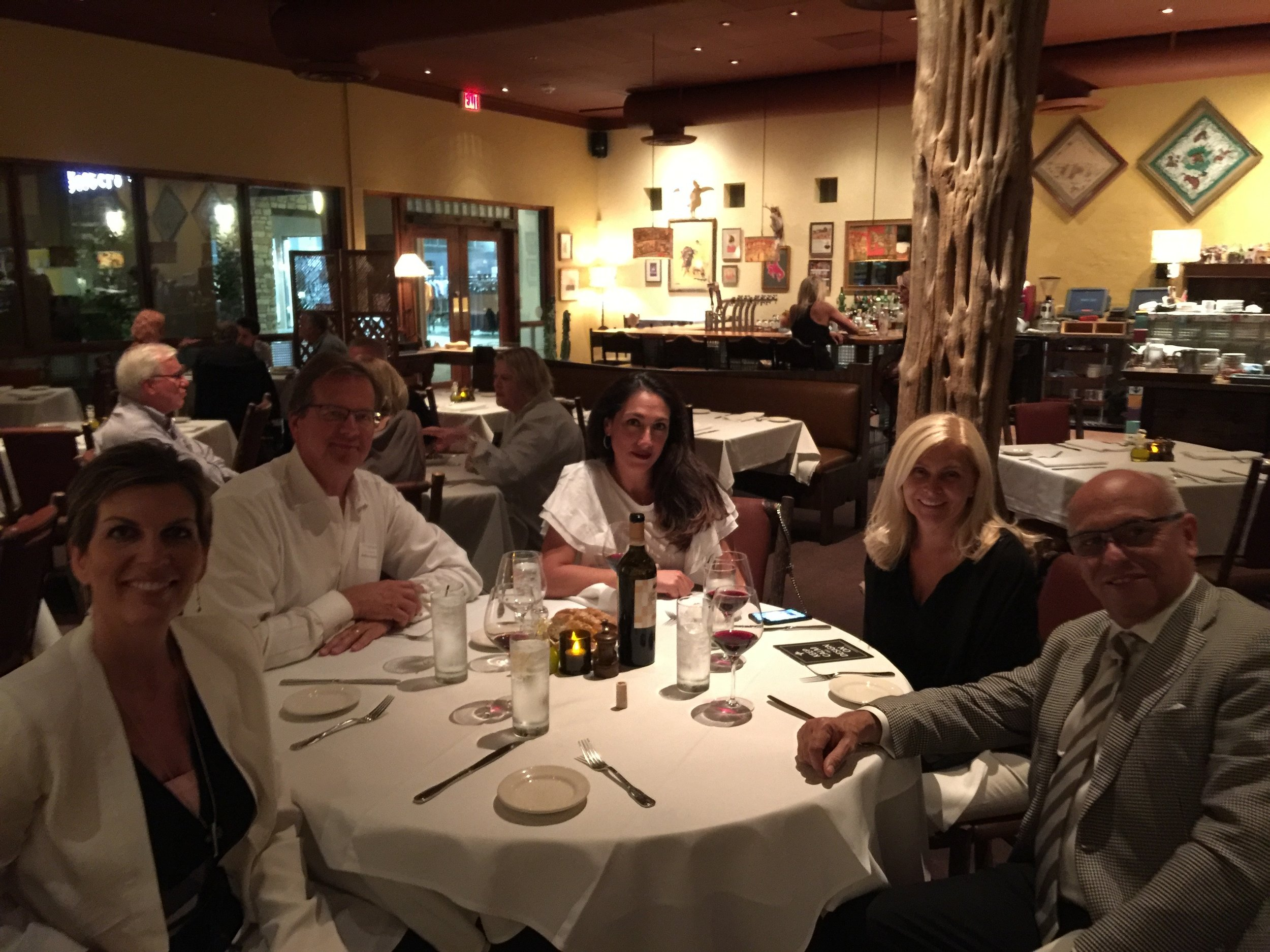 Post event dinner at Rancho Pinot with Isabel, Anthony and Gicela Dulcich from Long Beach and our sweet friend Rebecca.