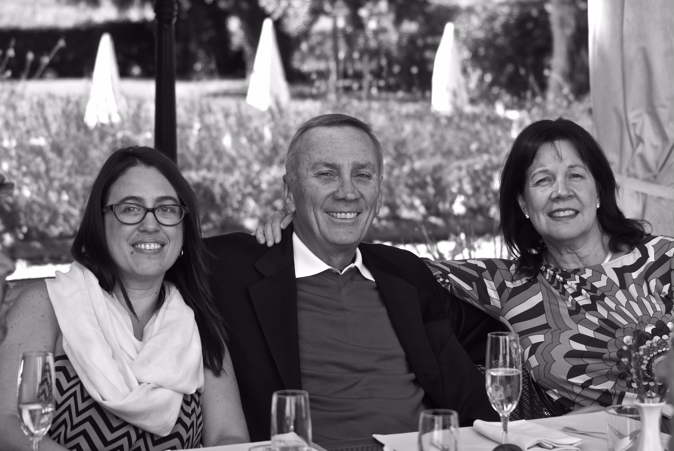 Vivian Ayala with Phil and Renee Giltner in Italy 2014