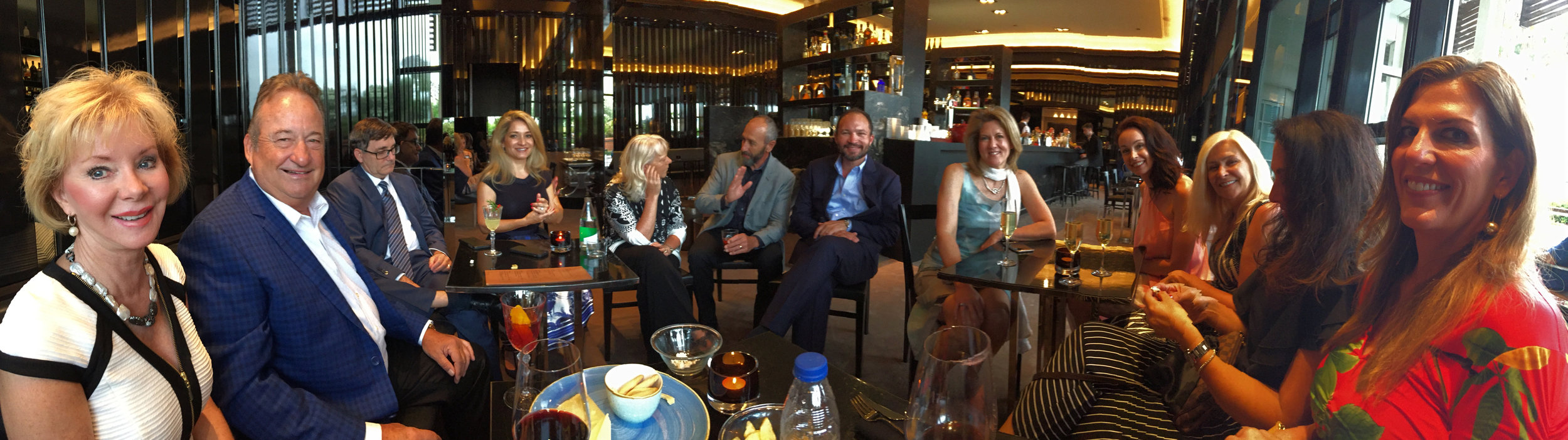Gloria Ipock and Larry Peery and the Candelaria Design Tour Spain group in Barcelona 2017