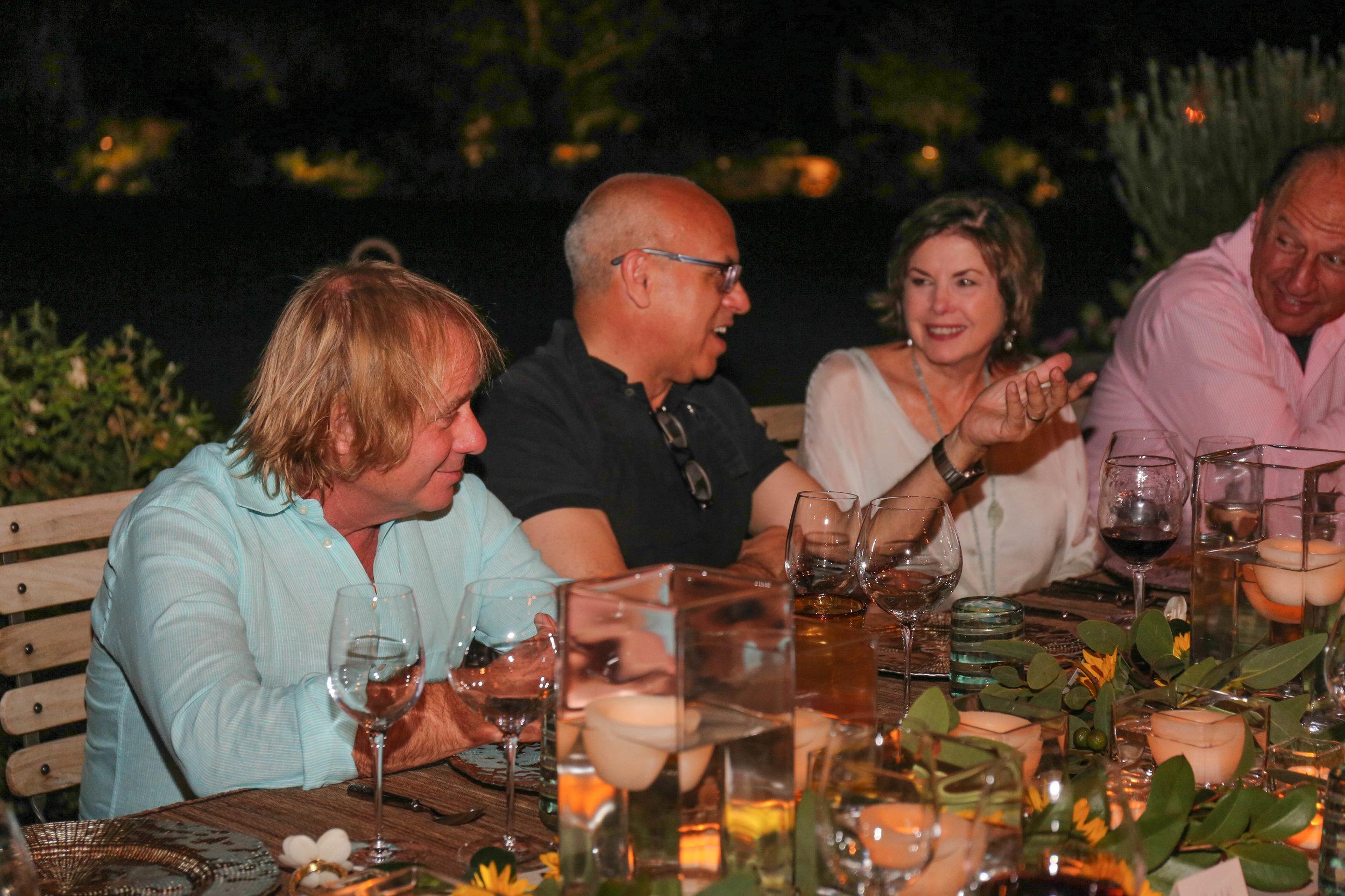 Walter Spitz, MC, Nancy Hanley and Jerry Meek dining at Zona Verde Oct 2017