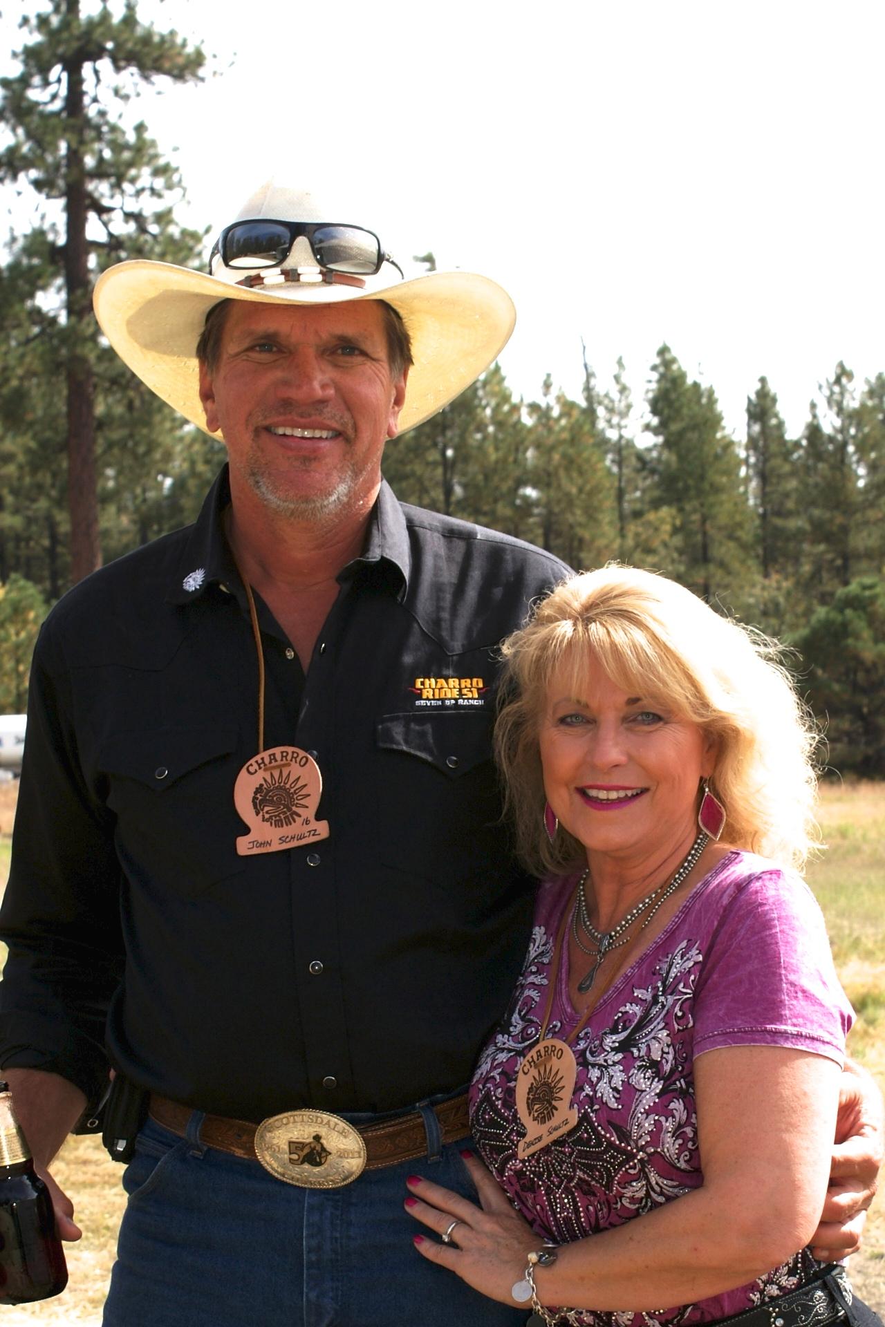 John and Denise Schultz on the Charro Ride
