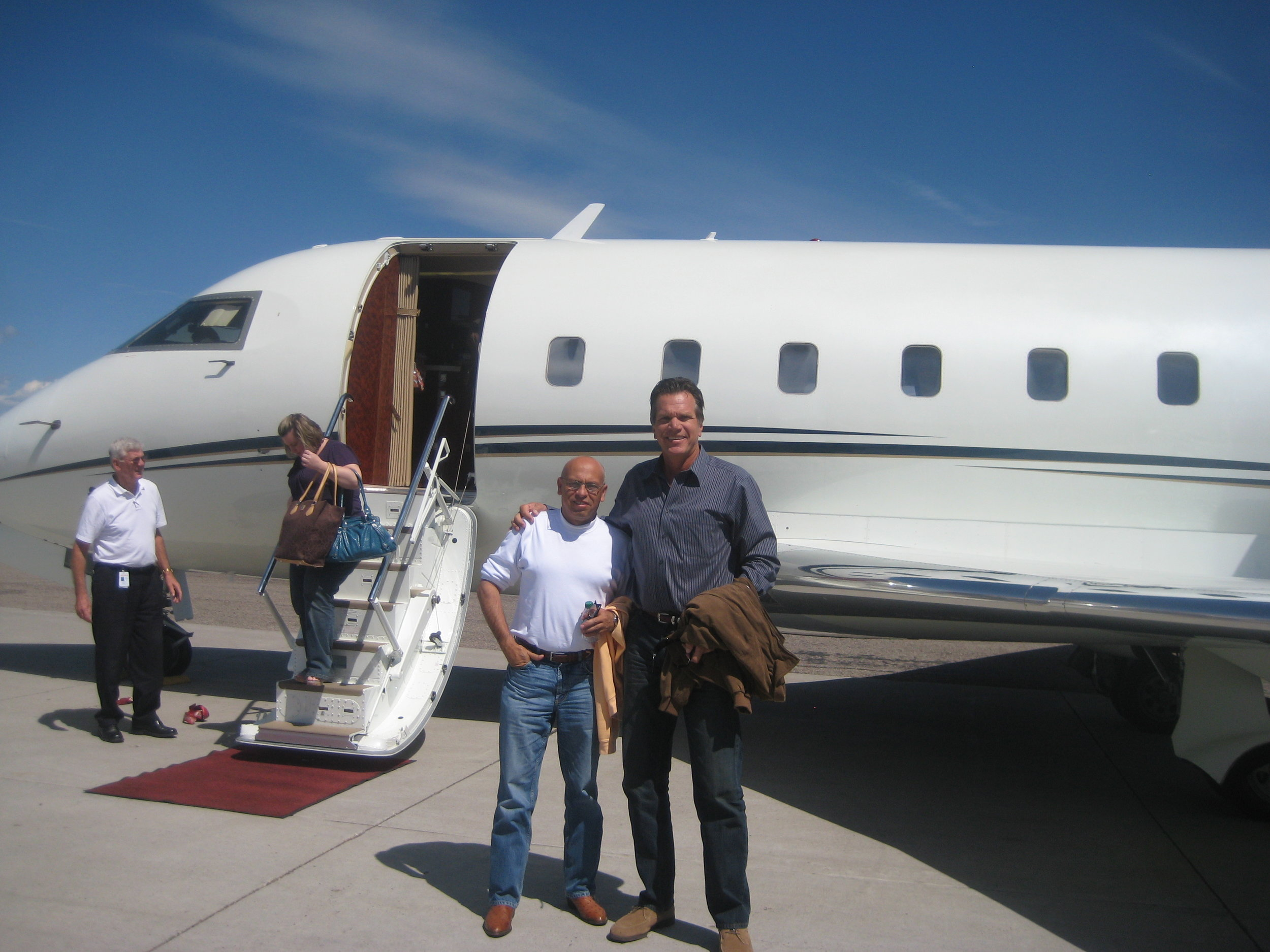 MC and Schultz wheels up to Montana with a client