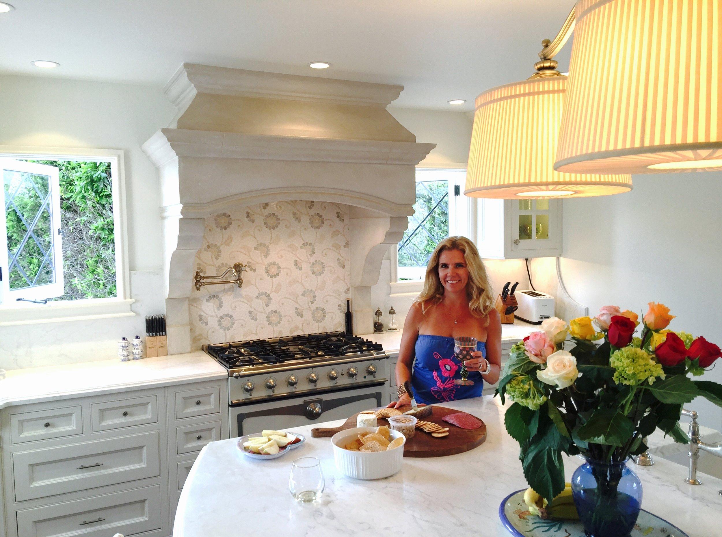 Melissa in her LaJolla, CA kitchen