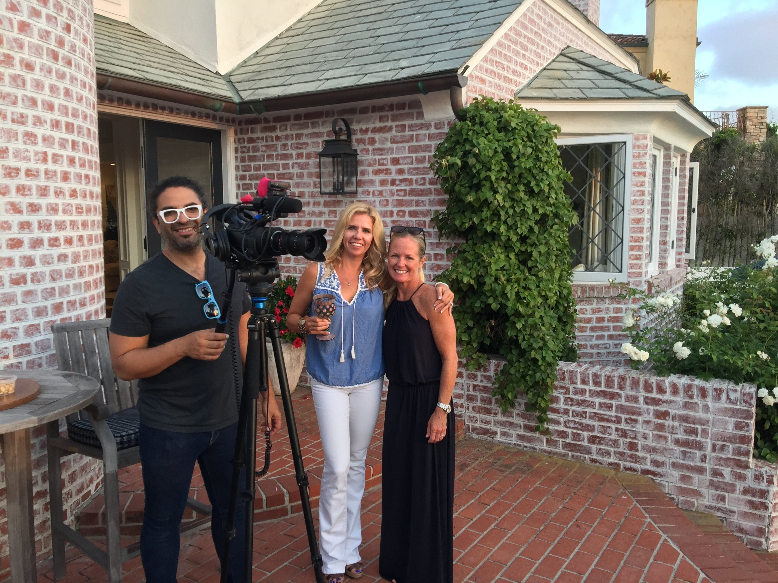 On the set at the Mullard Residence in LaJolla, CA