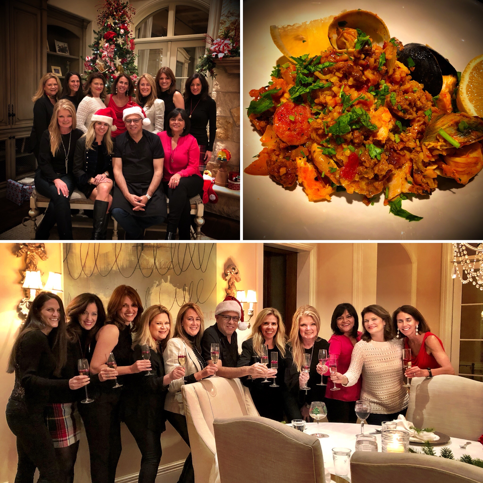 Candelaria Design Holiday Paella Cooking Class at the Mullard Residence December 2017