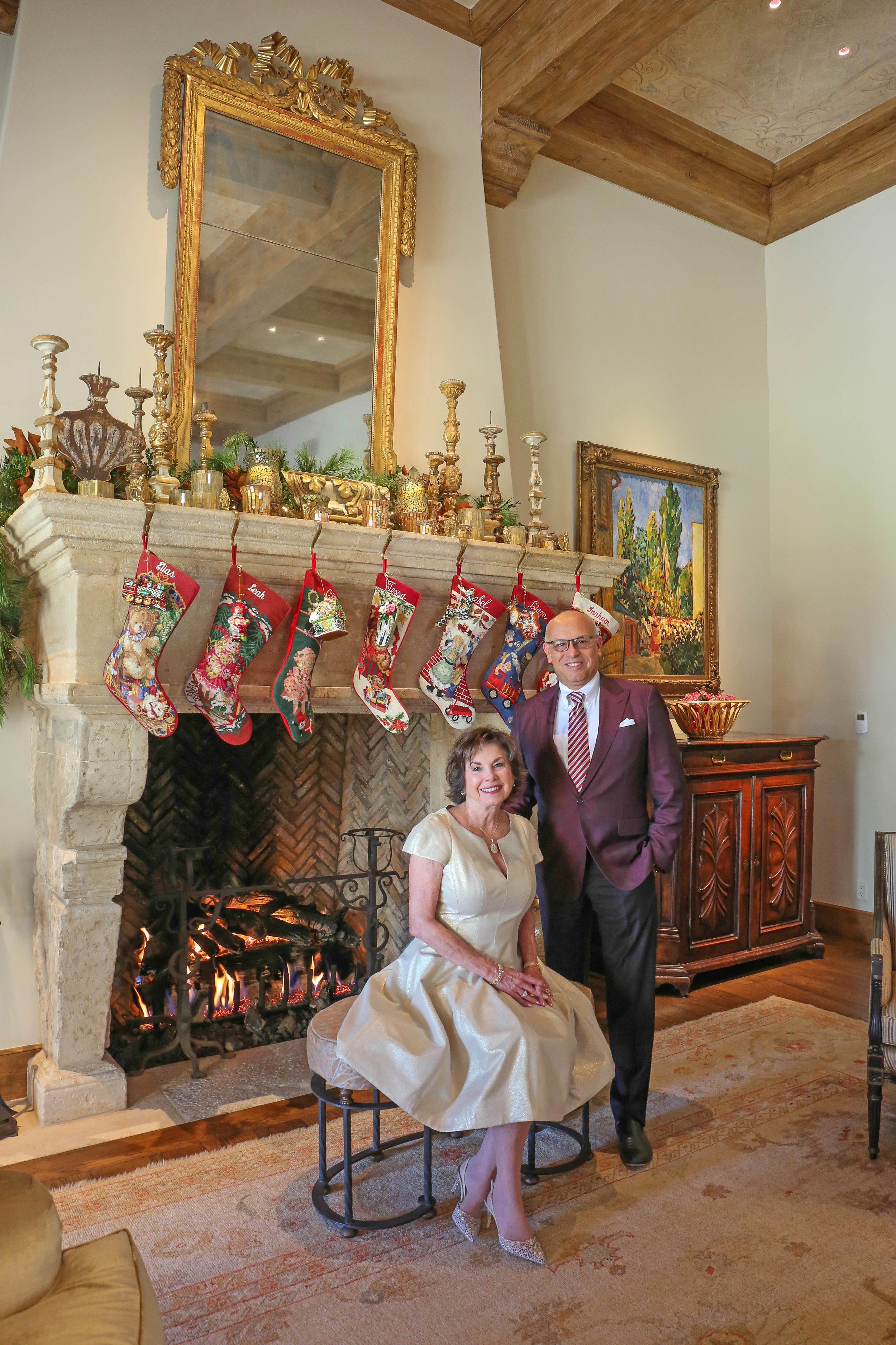 Holiday Photo 2017 Nancy Hanley and MC