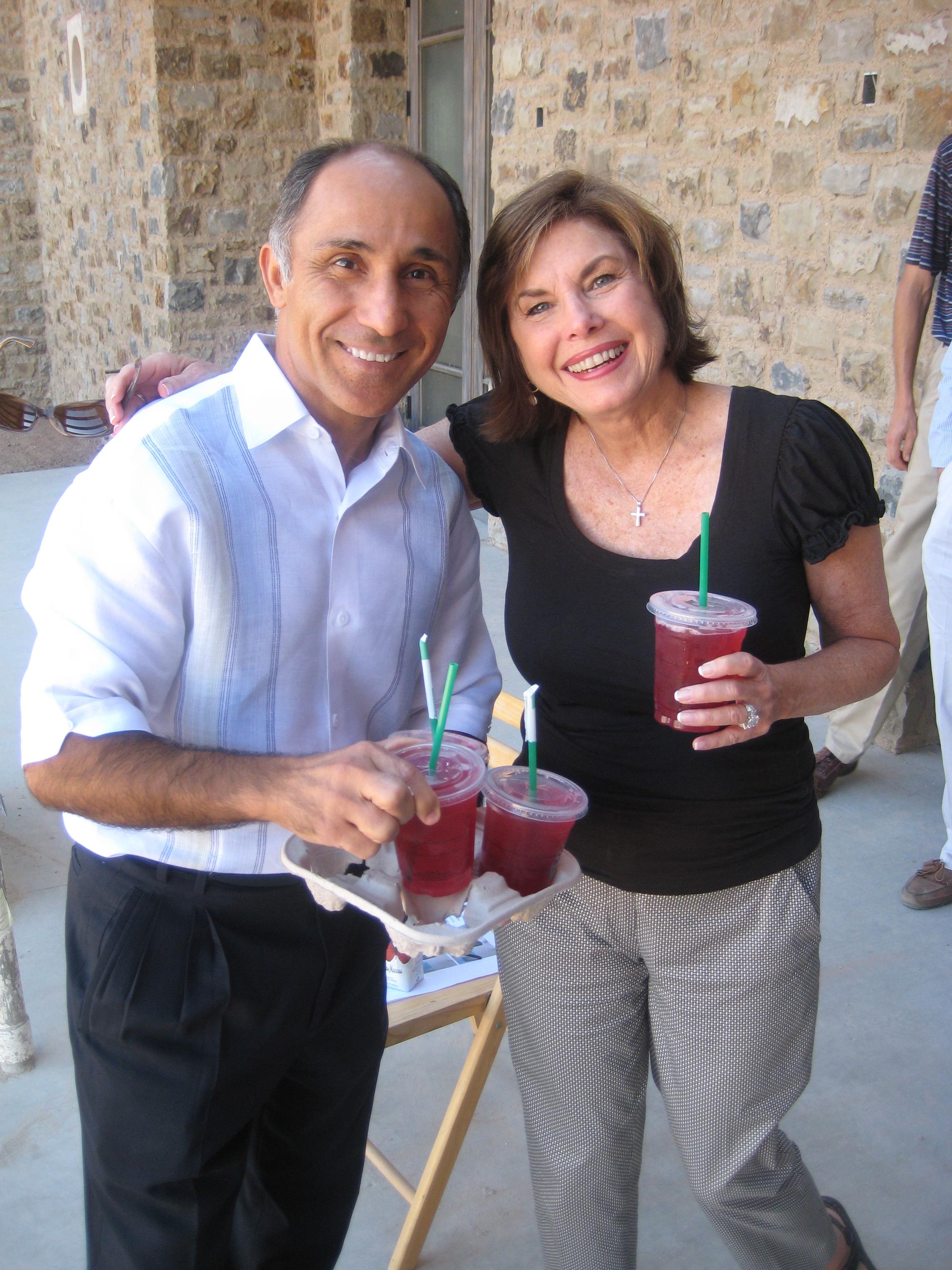 David Neishabori of AZADI with Nancy