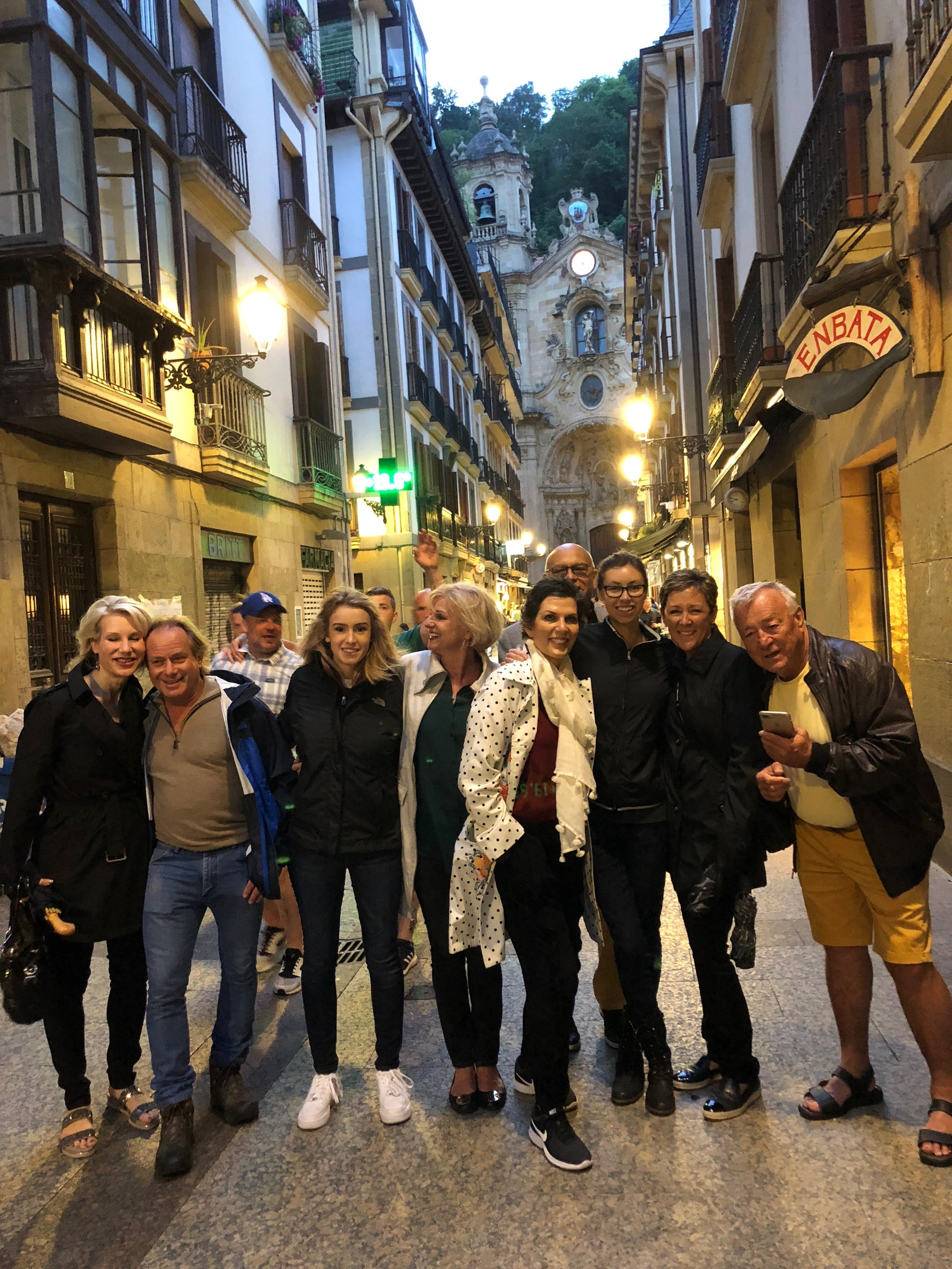 Out on the town in San Sebastian