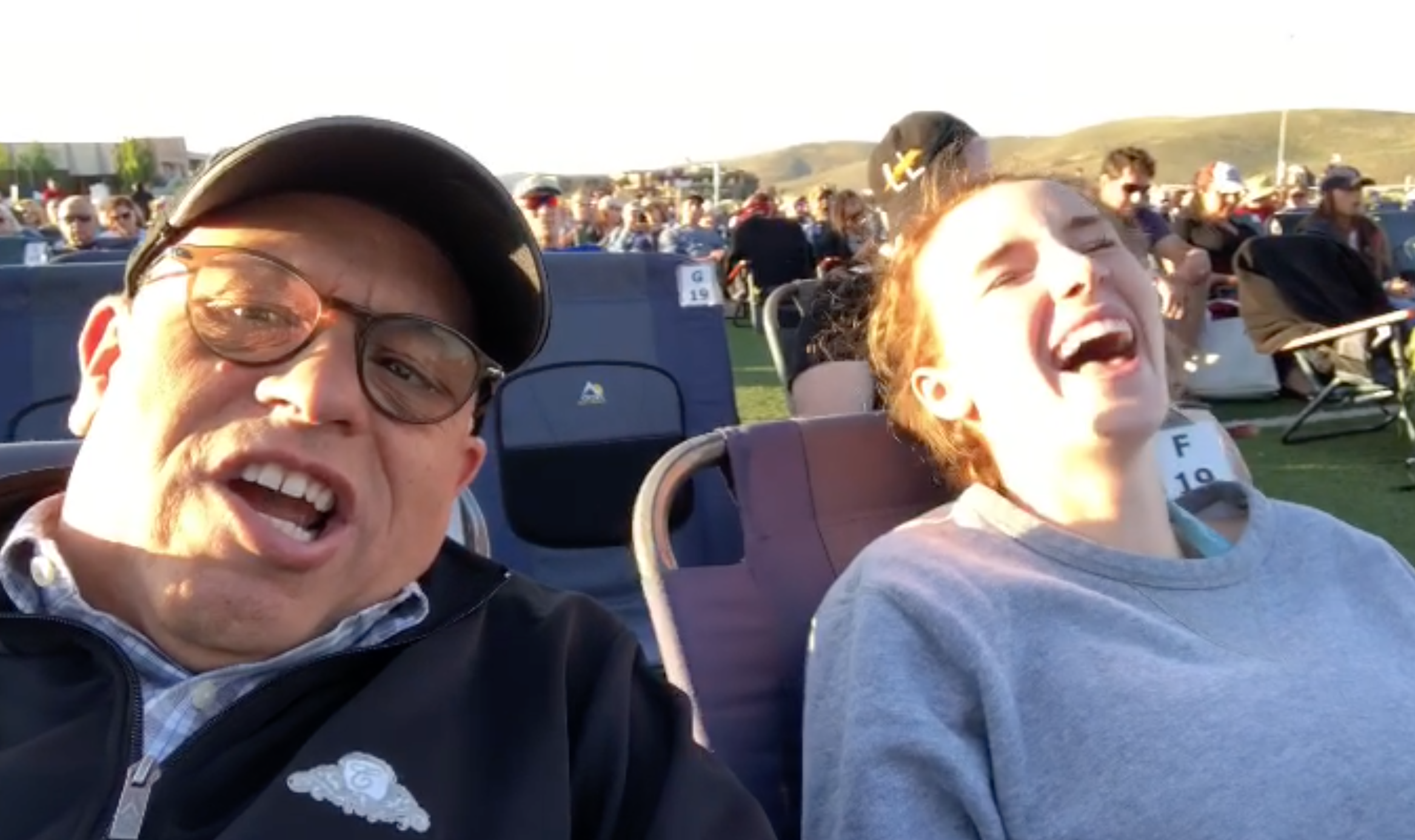 Fun times with Bella at the Los Lonely Boys Concert, Park City 2018