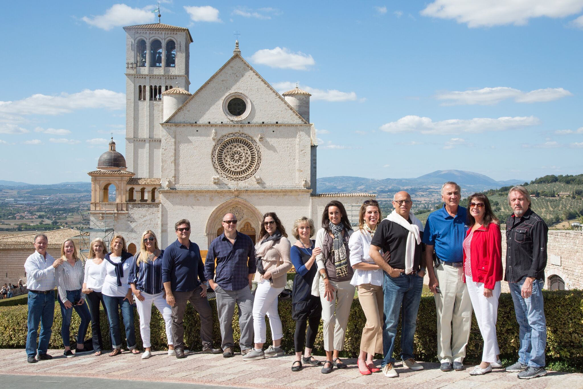 Our 2015 Candelaria Design Tour Italy Travelers in Assisi
