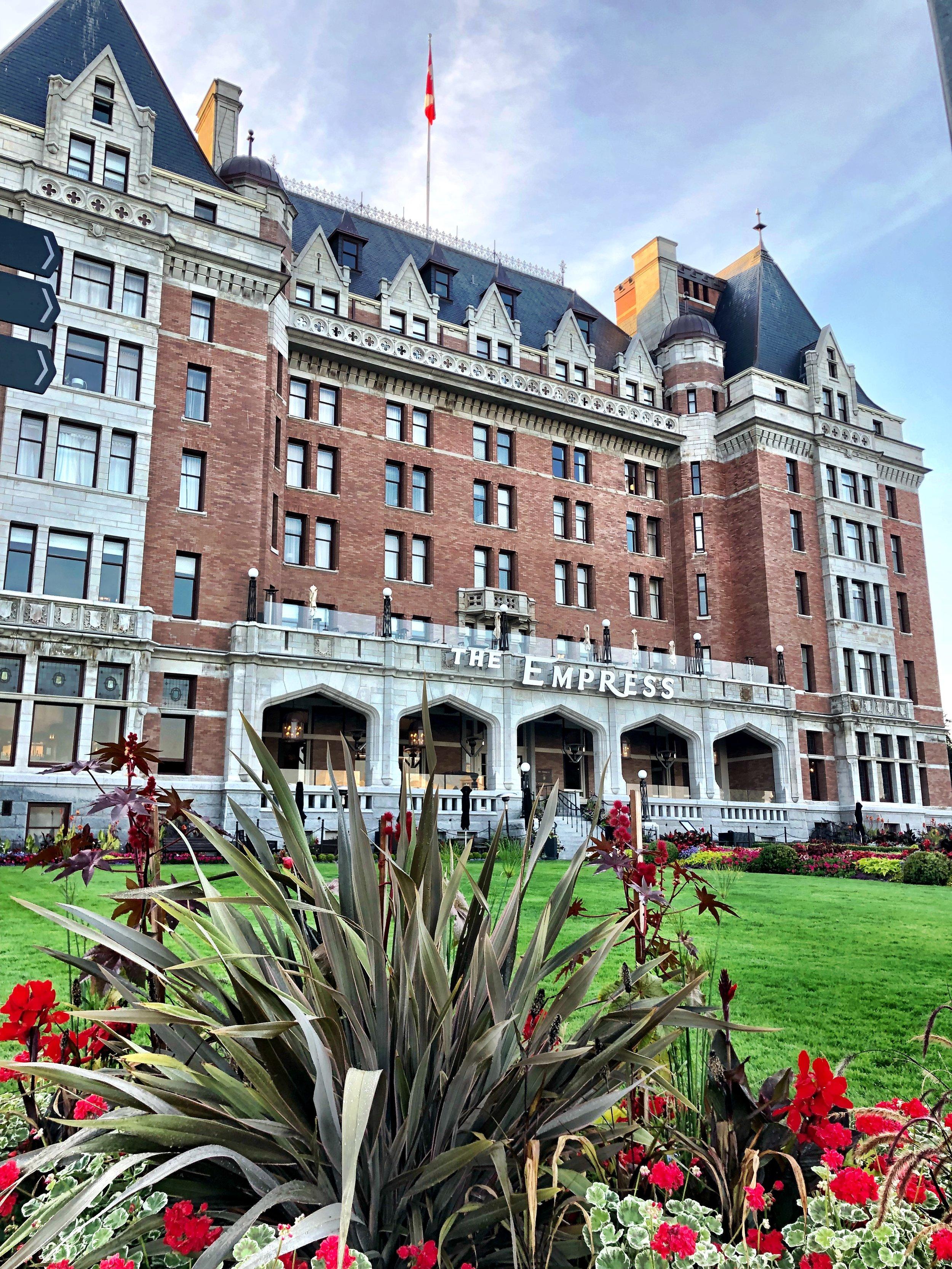 The Fairmont Empress Hotel in Victoria, BC
