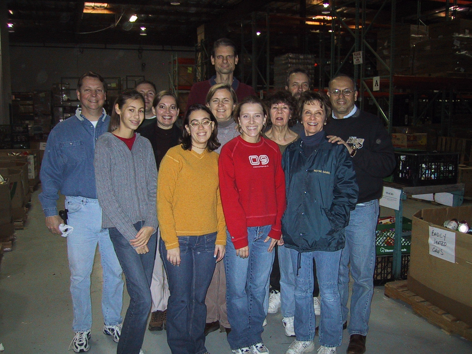 One of our first team photos from St. Mary's Food Bank - Always giving back!