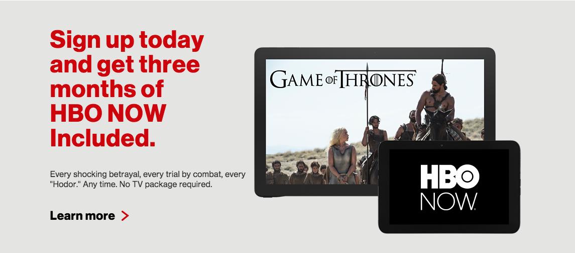 Verizon Wireless Home Page - HBO NOW Promo