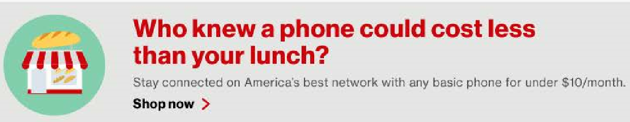 """Site Search Banner - """"Basic Phone Users"""" Target Audience"""