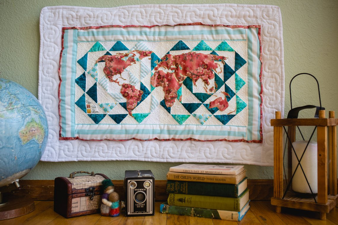 If you haven't seen my extremely more talented friend Kristen Jorden's quilts then you need to seriously check yourself before you wreck yourself how friggen CUTE is this!
