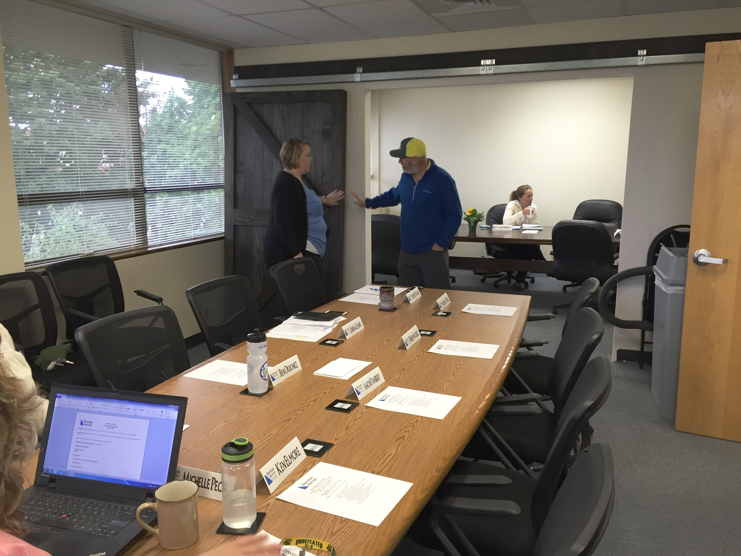 CEO Aimee Walsh & Board Member Richie Weinmann in the Marshall Peter Meeting & Conference Room.