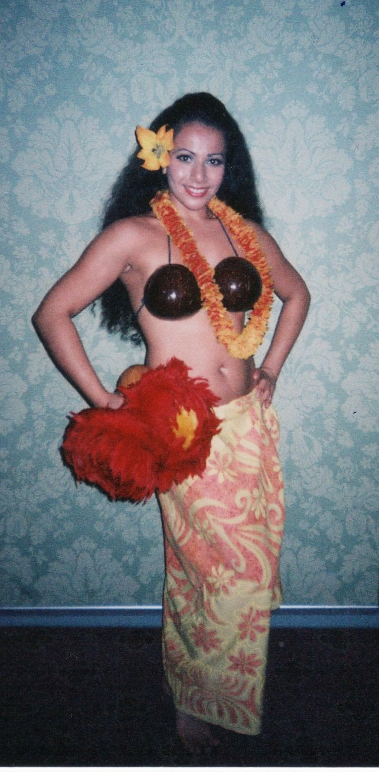 Aliki Kavouras in Fort Lauderdale Florida. Lead Dancer for Drums of Polynesia at the time.