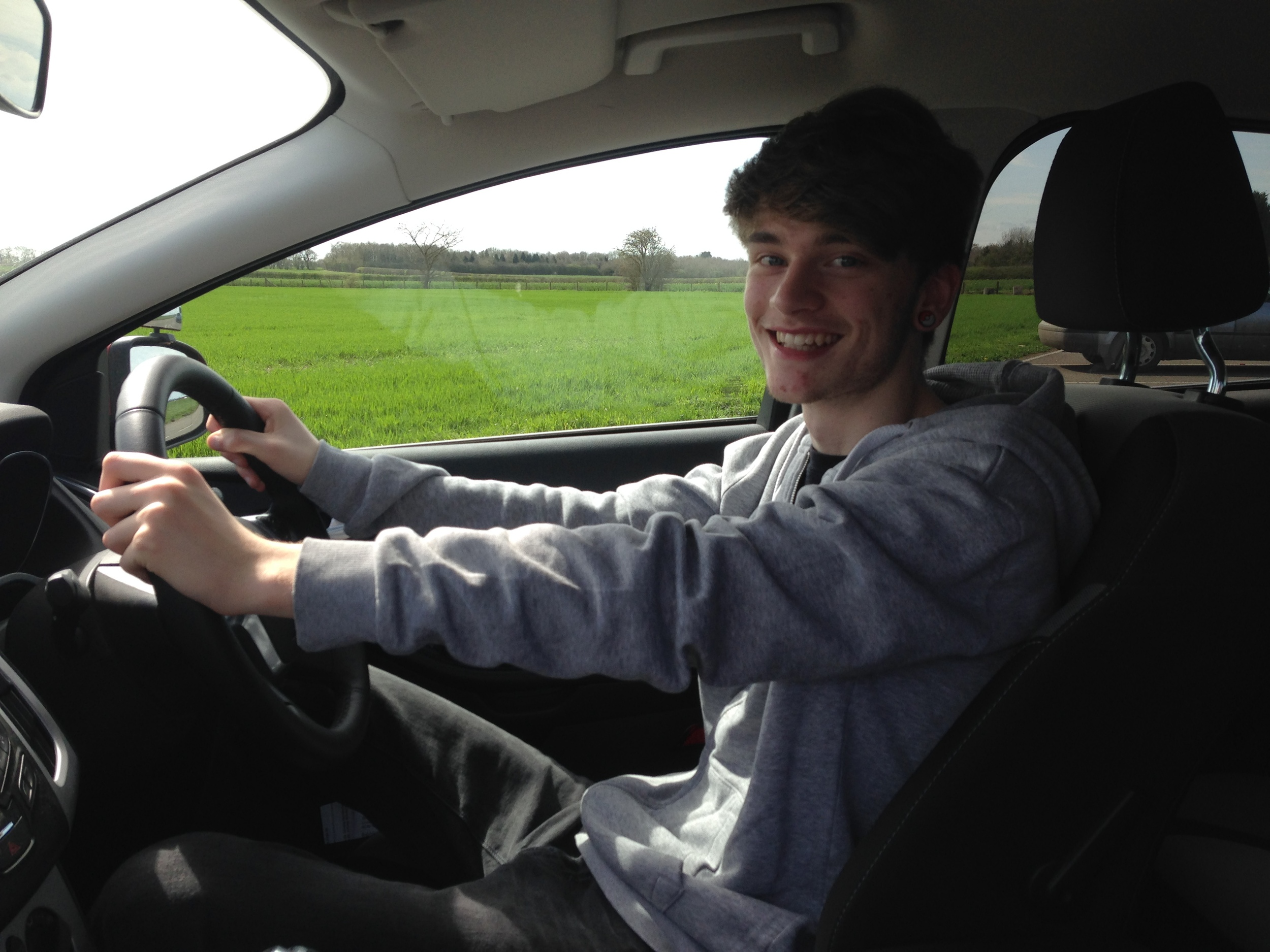 Rhys Clarke (16) off road lesson 12th April 2015 with Mark Prewett. Well done!