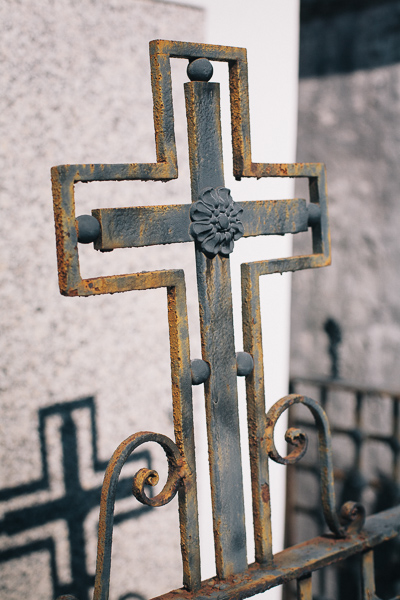 Cross on a Tomb Fence