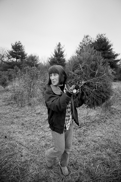 Jeanie and her little tree