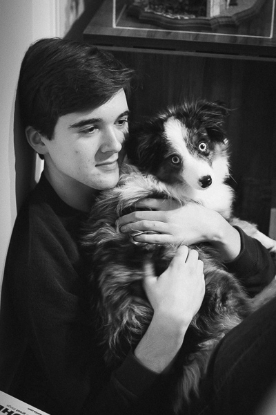 Alex and Koda the dog