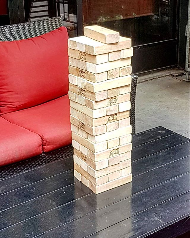 Let's play. #jenga #patio #humpday #6ix #Toronto
