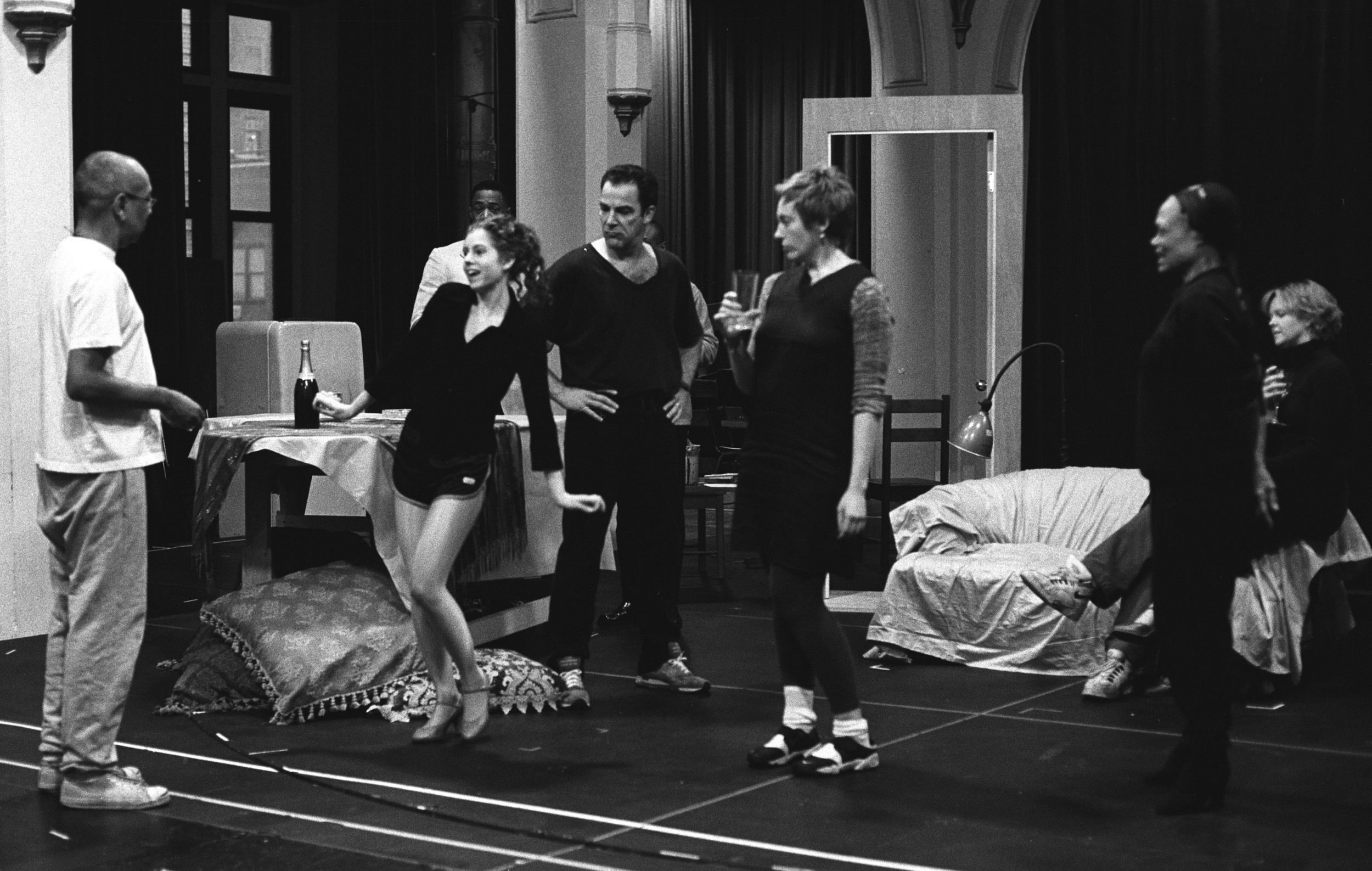 %22REHEARSAL AT THE PUBLIC THEATER WITH GEORGE C. WOLFE,  BROOKE, MANDY PATINKIN, TONY COLETTE, EARTHA KITT, AND LEAH HOCKING%22.jpg